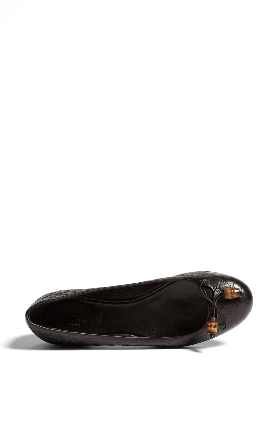 Alternate Image 3  - Gucci 'Sylvie' Bamboo Bow Ballet Flat