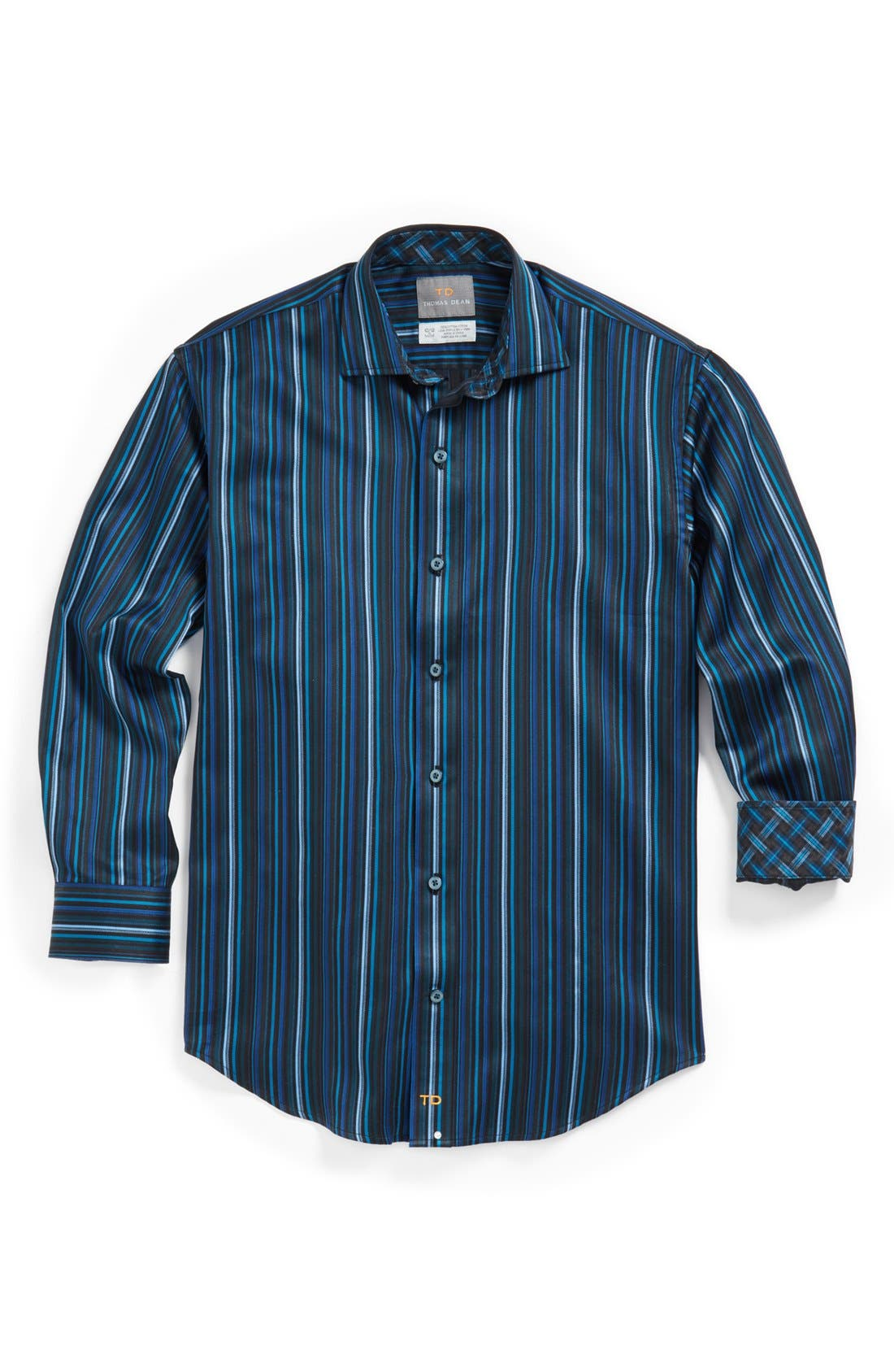 Main Image - Thomas Dean Sport Shirt (Big Boys)
