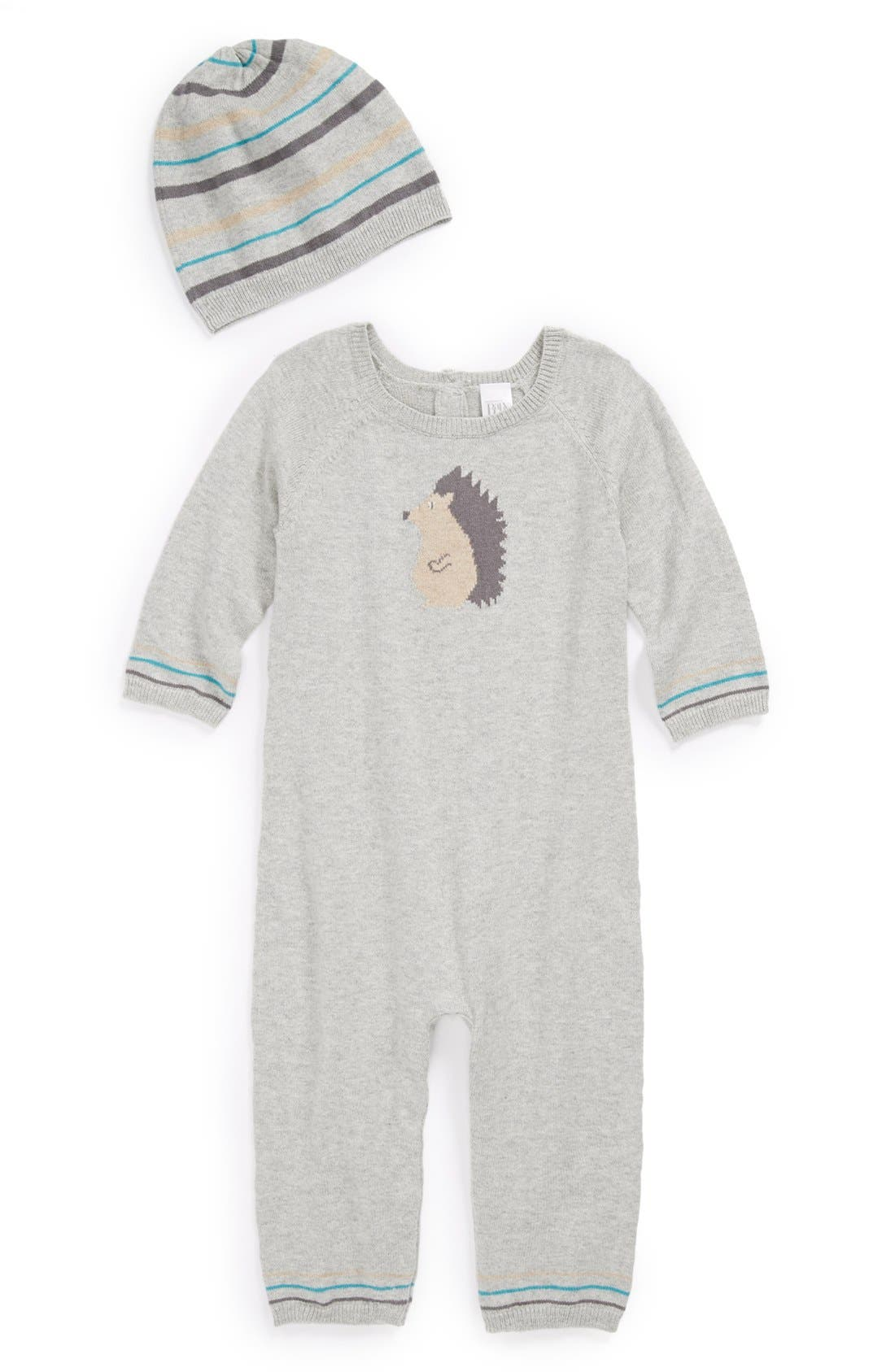 Alternate Image 1 Selected - Nordstrom Baby Romper & Hat (Baby Boys)
