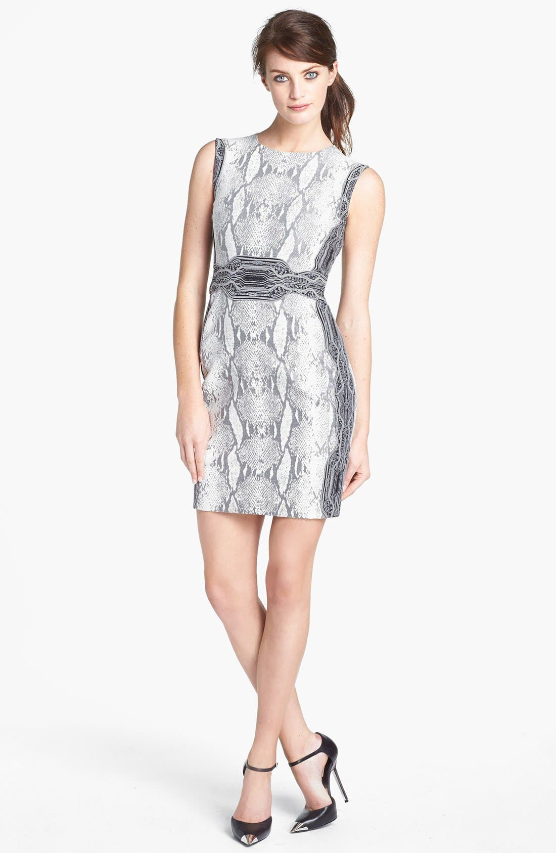 Main Image - Diane von Furstenberg 'Bey' Snake Print Sleeveless Dress