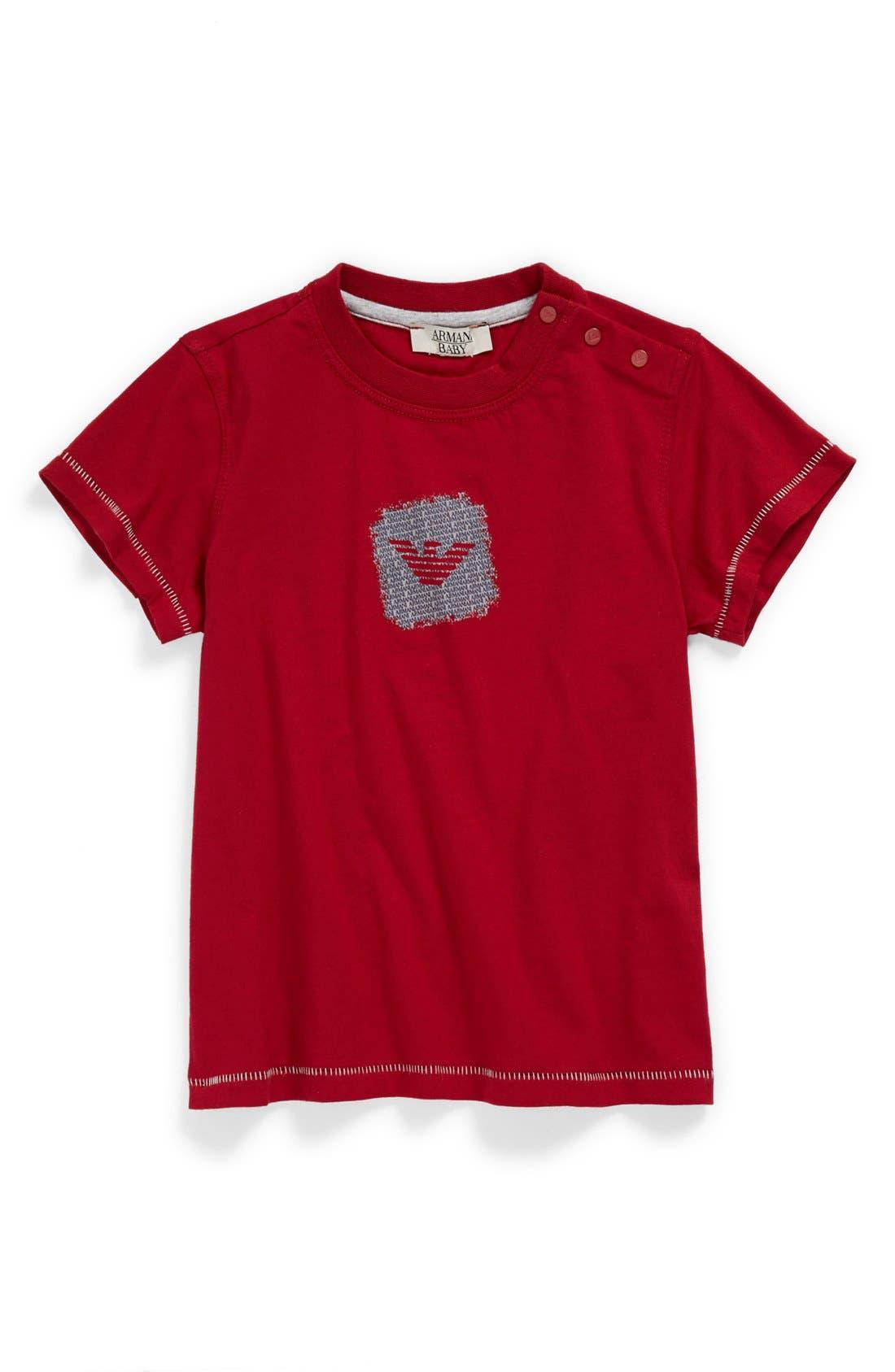 Alternate Image 1 Selected - Armani Junior Logo T-Shirt (Baby Boys)