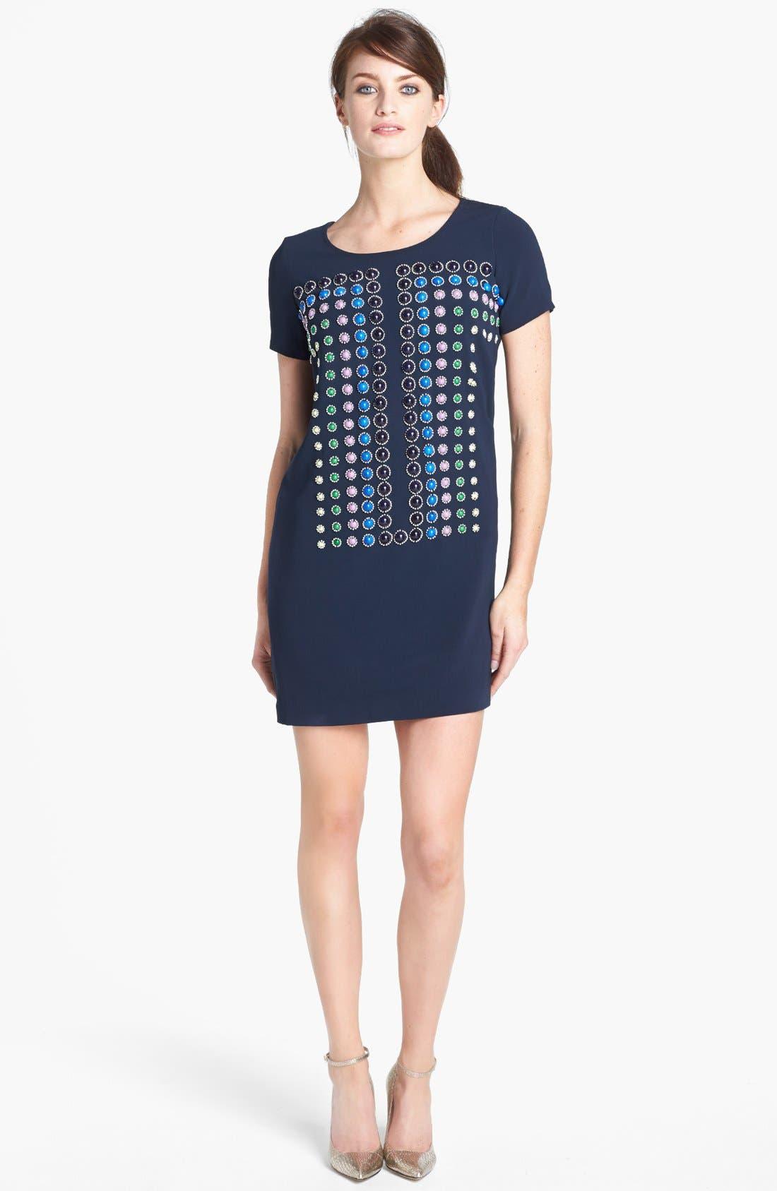 Main Image - Diane von Furstenberg 'Owen Sugar Studs' Embellished T-Shirt Dress