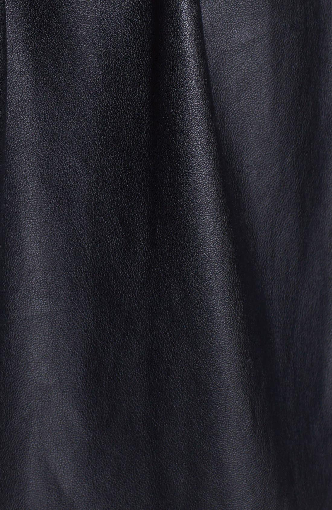 Alternate Image 3  - Pink Tartan 'Moss' Faux Leather Skirt