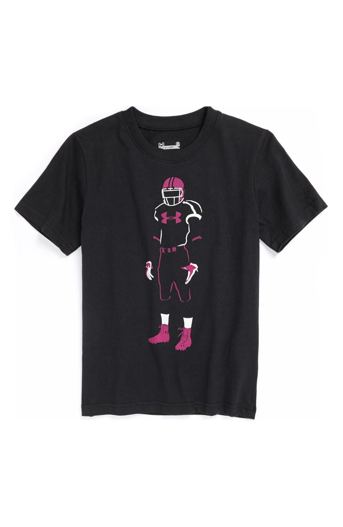 Main Image - Under Armour 'Power in Pink™' T-Shirt (Little Boys)