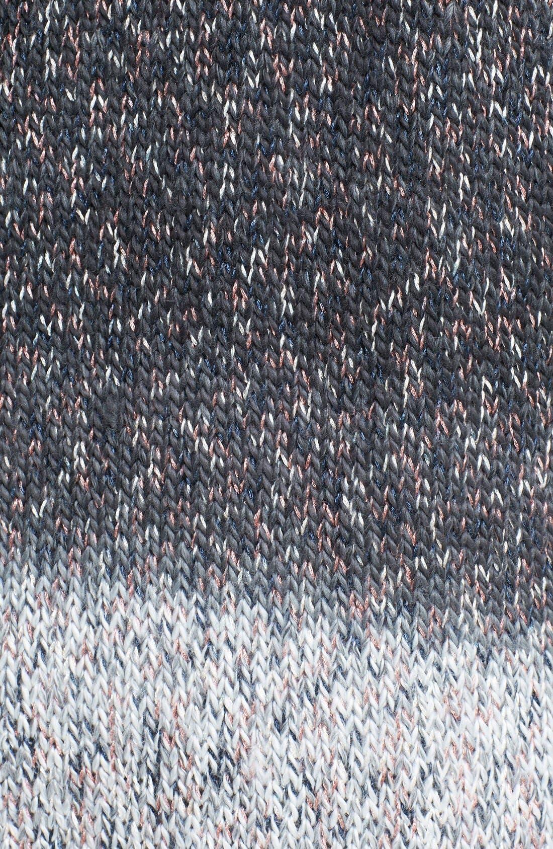 Alternate Image 3  - Trouvé Faux Leather Trim Two Tone Cardigan