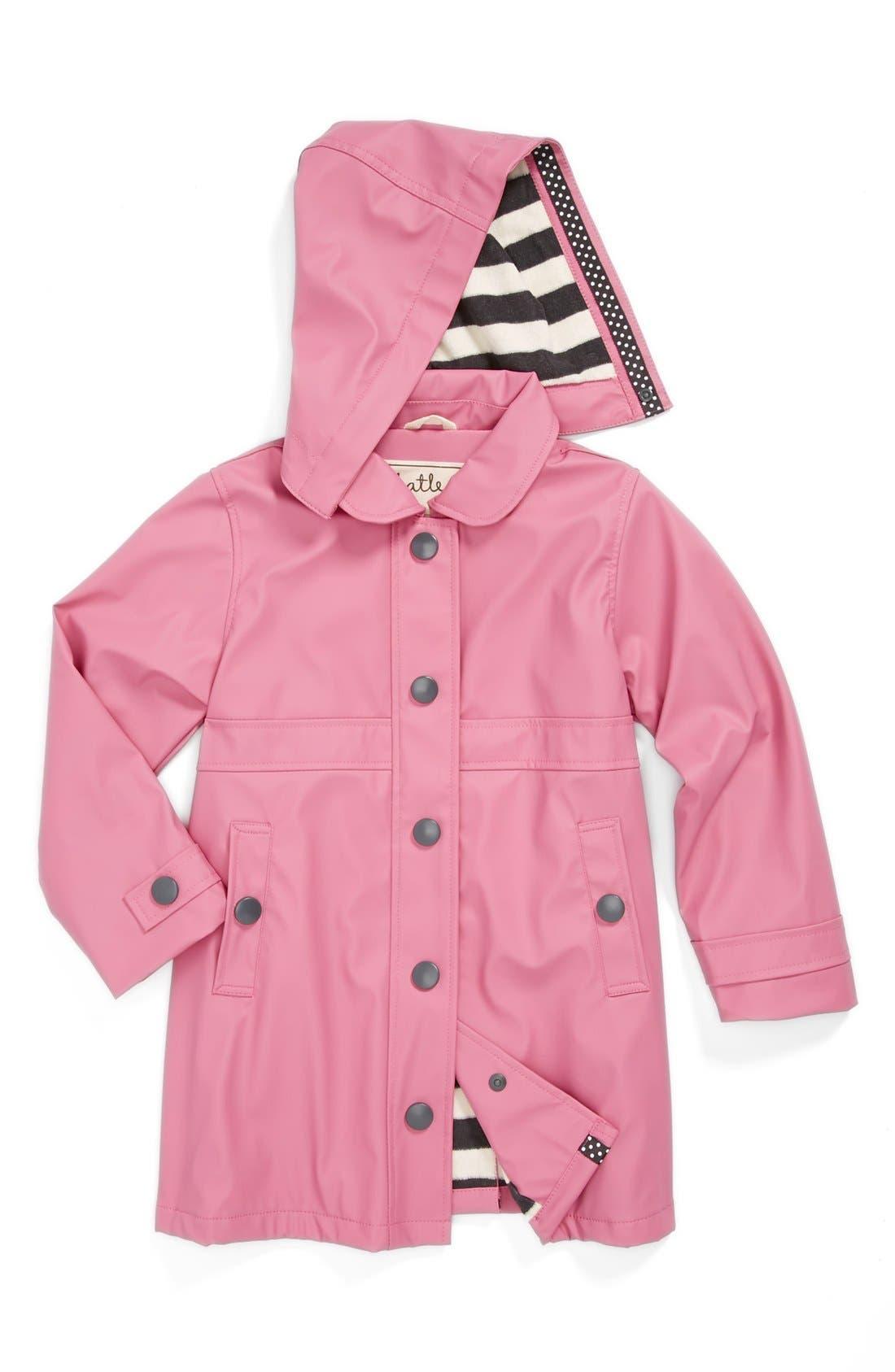 Alternate Image 1 Selected - Hatley 'Orchid Lily' Rain Jacket (Toddler Girls, Little Girls & Big Girls)