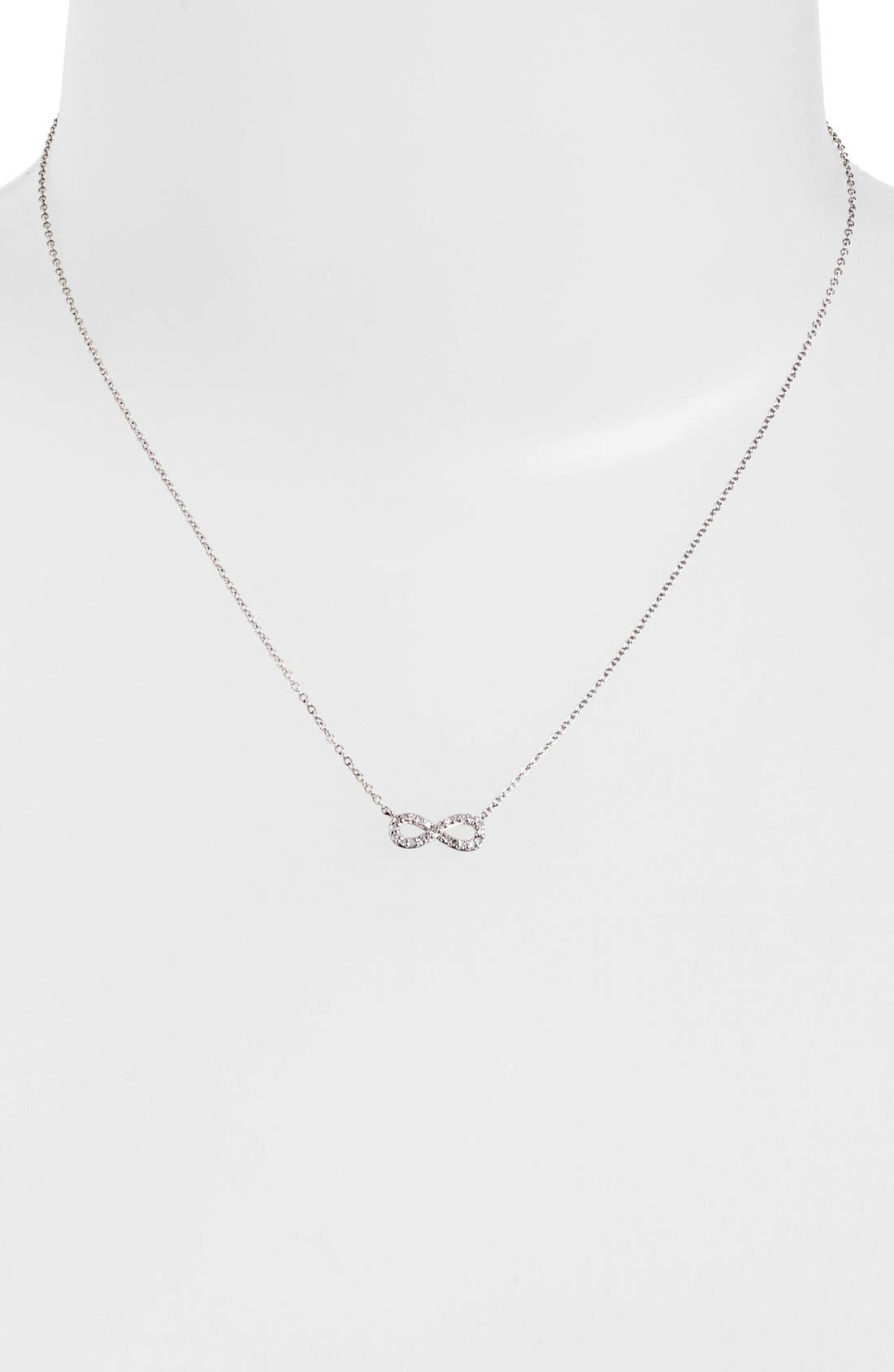 Alternate Image 2  - Adina Reyter Pavé Diamond Infinity Symbol Pendant Necklace (Online Only)