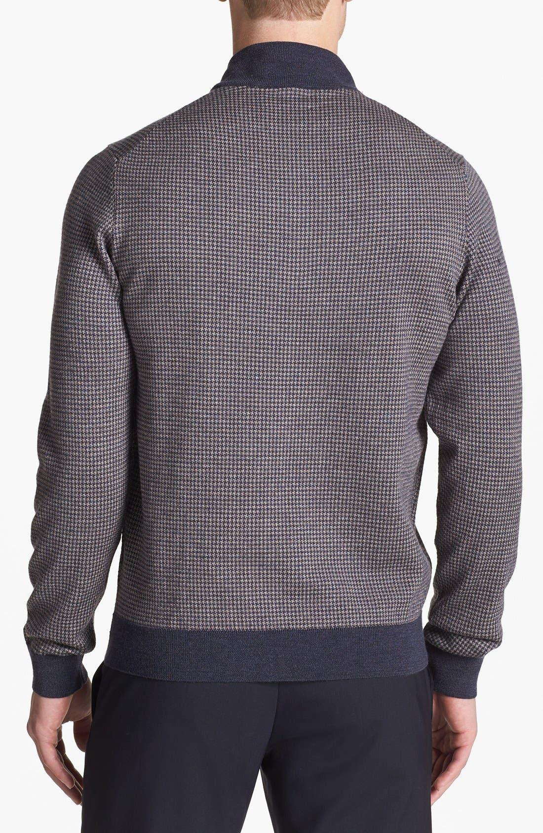 Alternate Image 2  - John W. Nordstrom® Merino Wool Quarter Zip Pullover