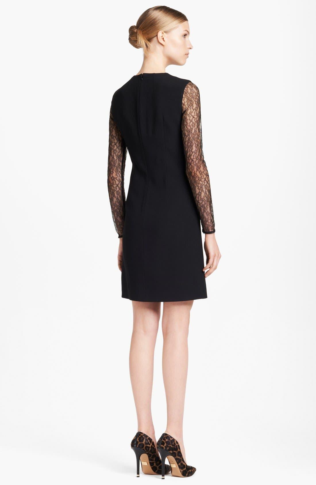 Alternate Image 2  - Michael Kors Lace Sleeve Dress