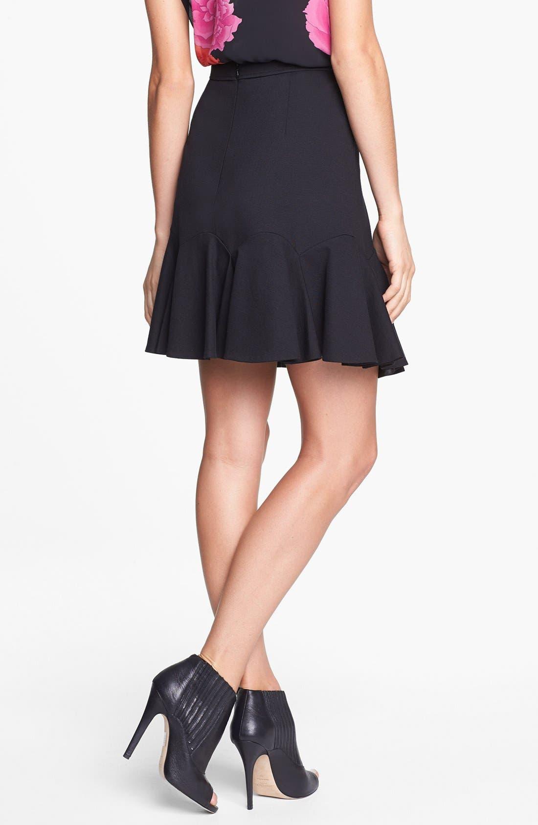 Alternate Image 2  - Vince Camuto Fluted Miniskirt