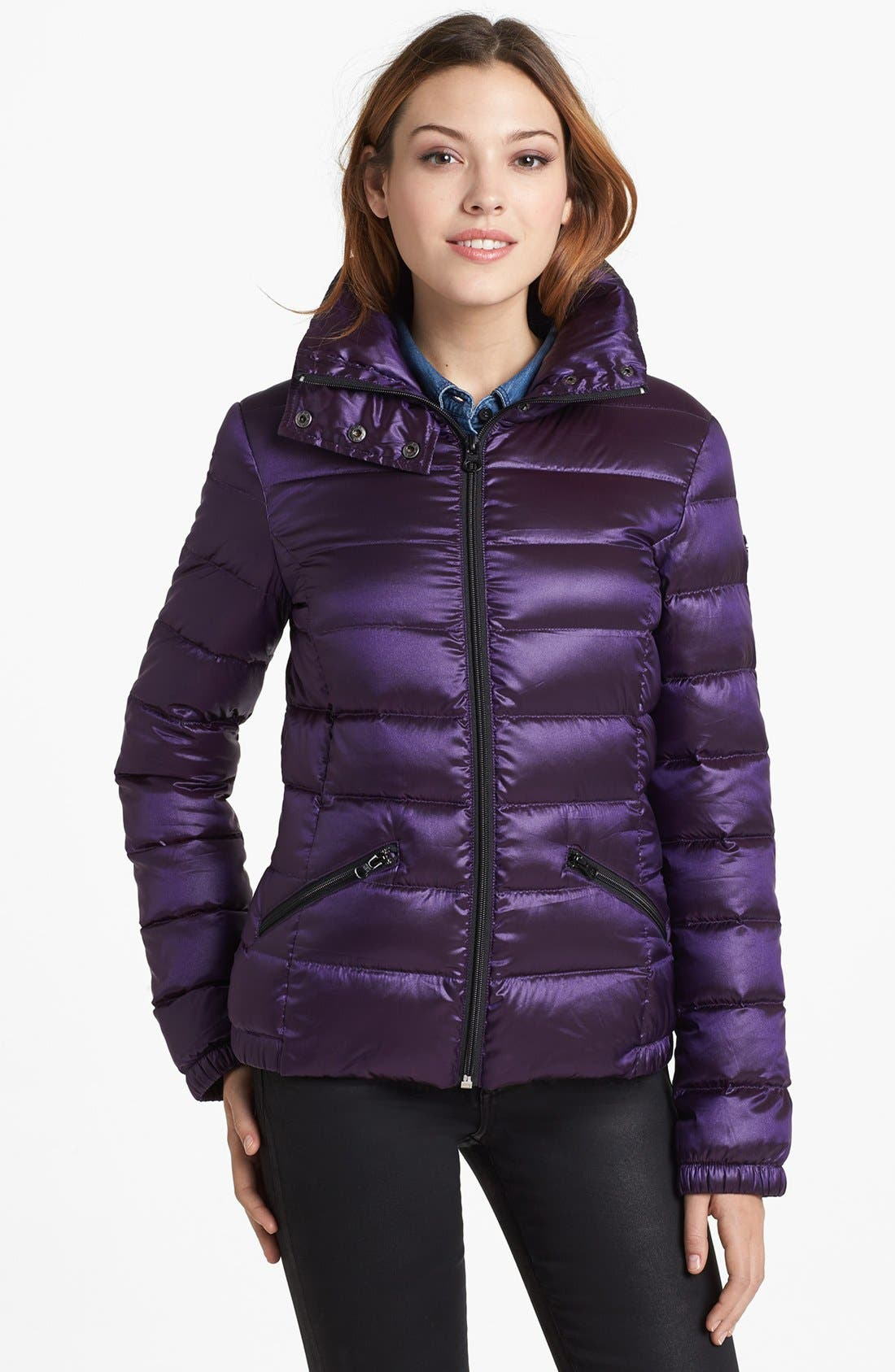 Main Image - Bernardo Ruched Back Packable Goose Down Jacket