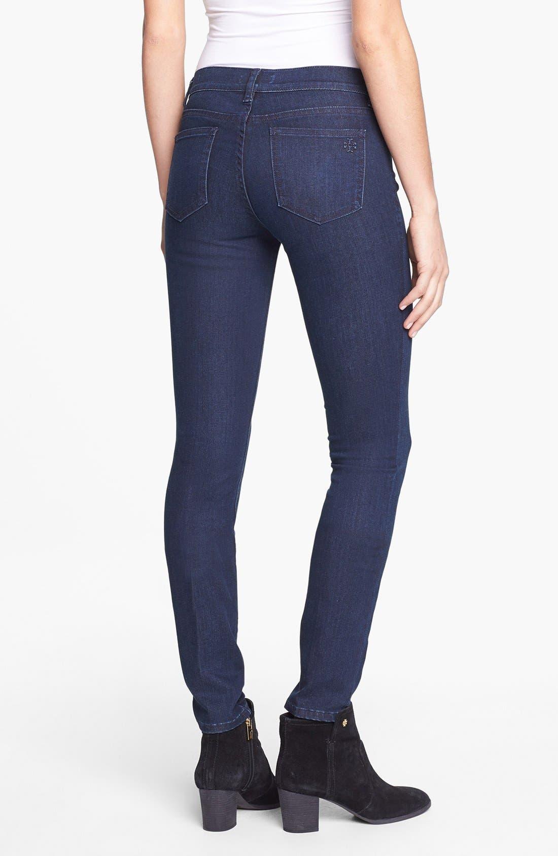 Alternate Image 2  - Tory Burch Stretch Skinny Jeans (Rinse)