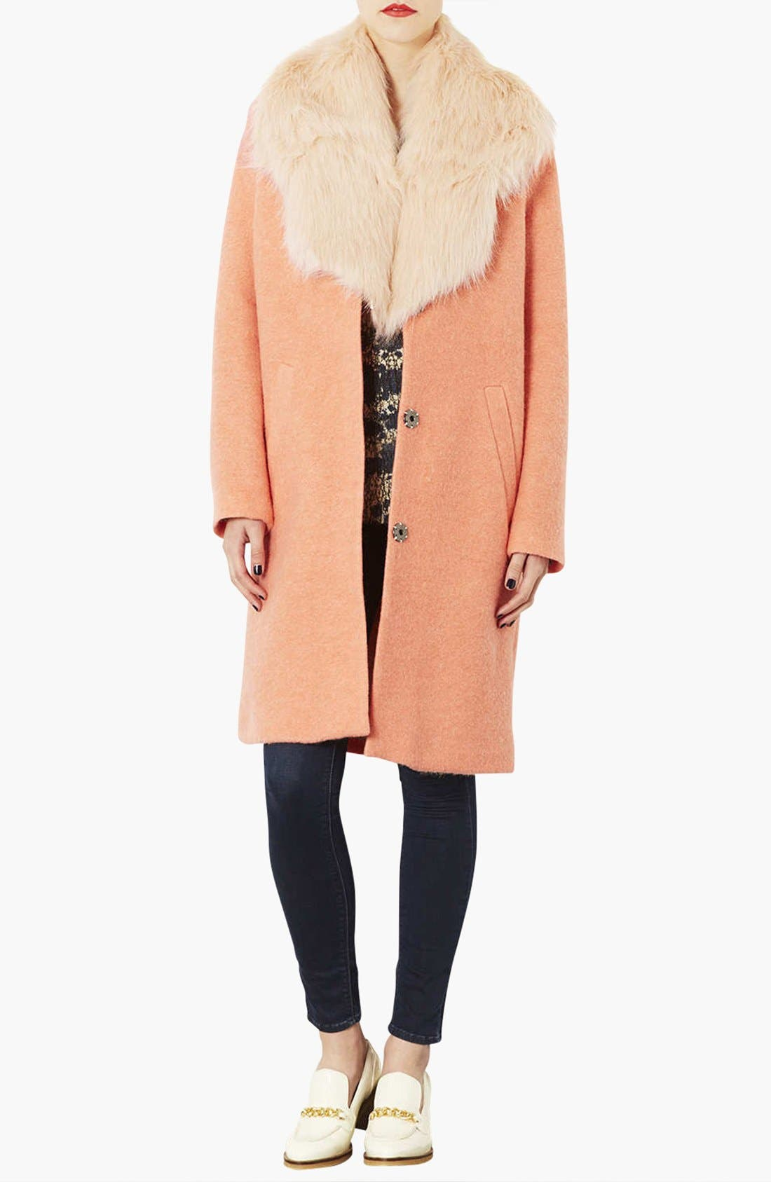 Alternate Image 2  - Topshop Faux Fur Stole