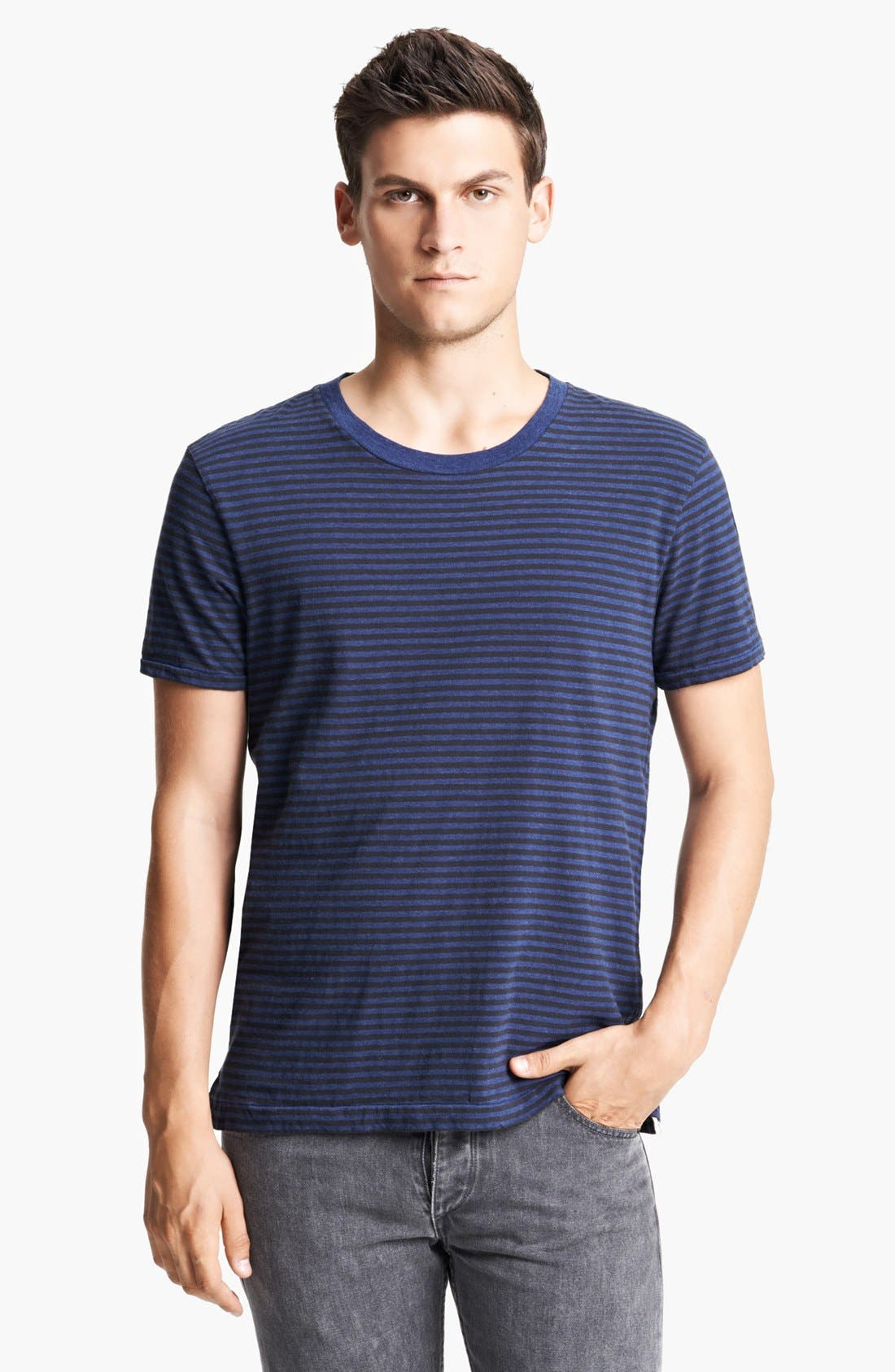Alternate Image 1 Selected - rag & bone Perfect Stripe Crewneck T-Shirt