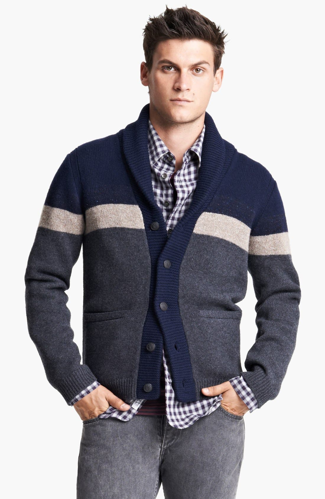 Main Image - rag & bone 'Teddy' Shawl Cardigan