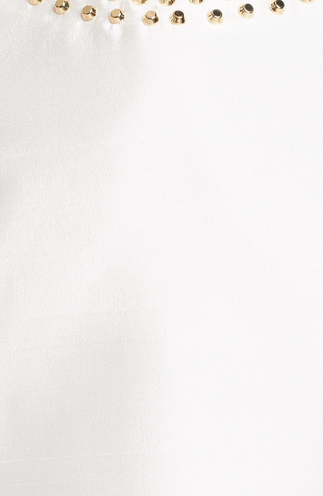 Alternate Image 4  - Michael Kors Studded Silk & Wool Top