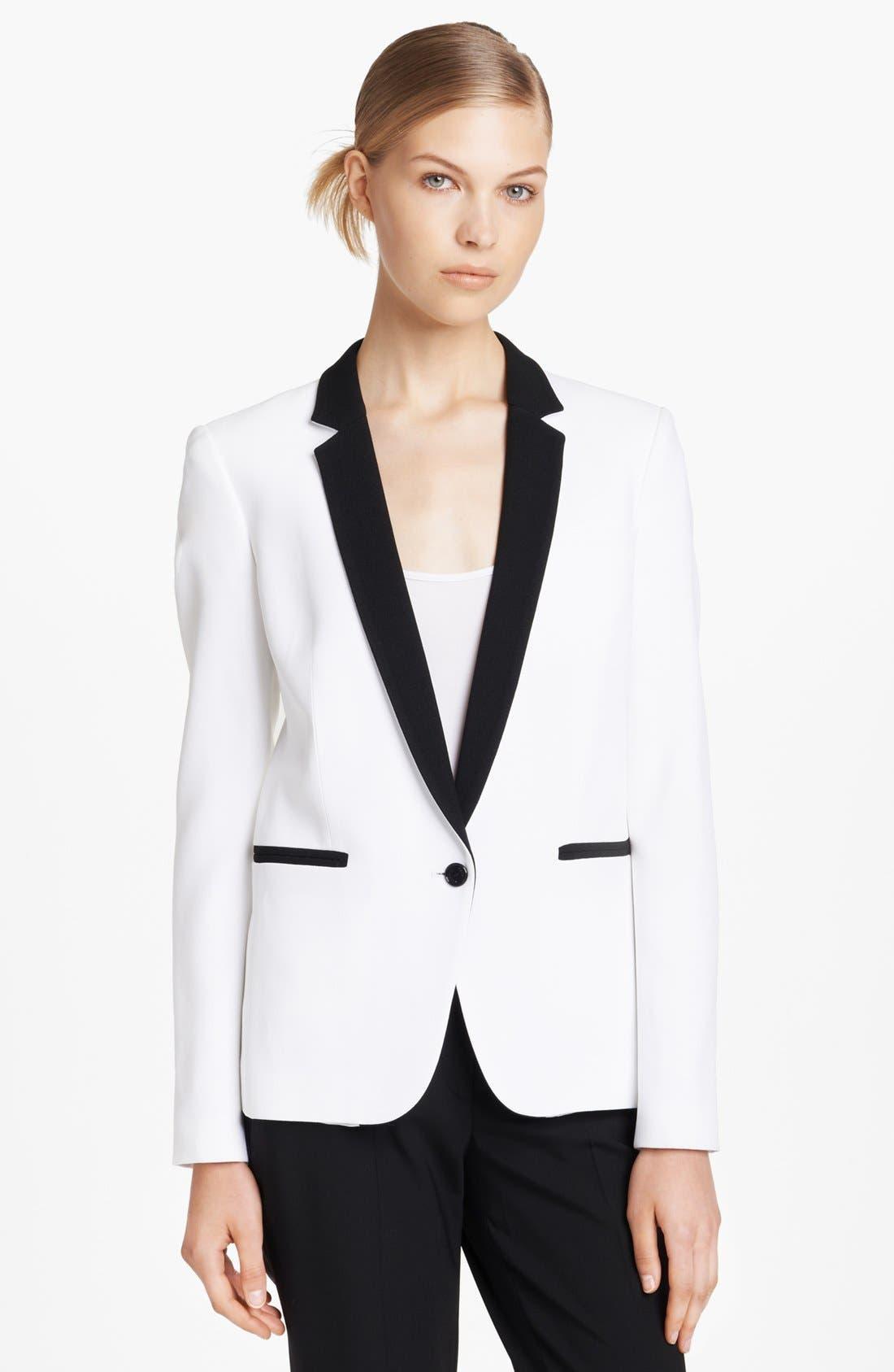 Alternate Image 1 Selected - Michael Kors Double Crepe Tuxedo Jacket