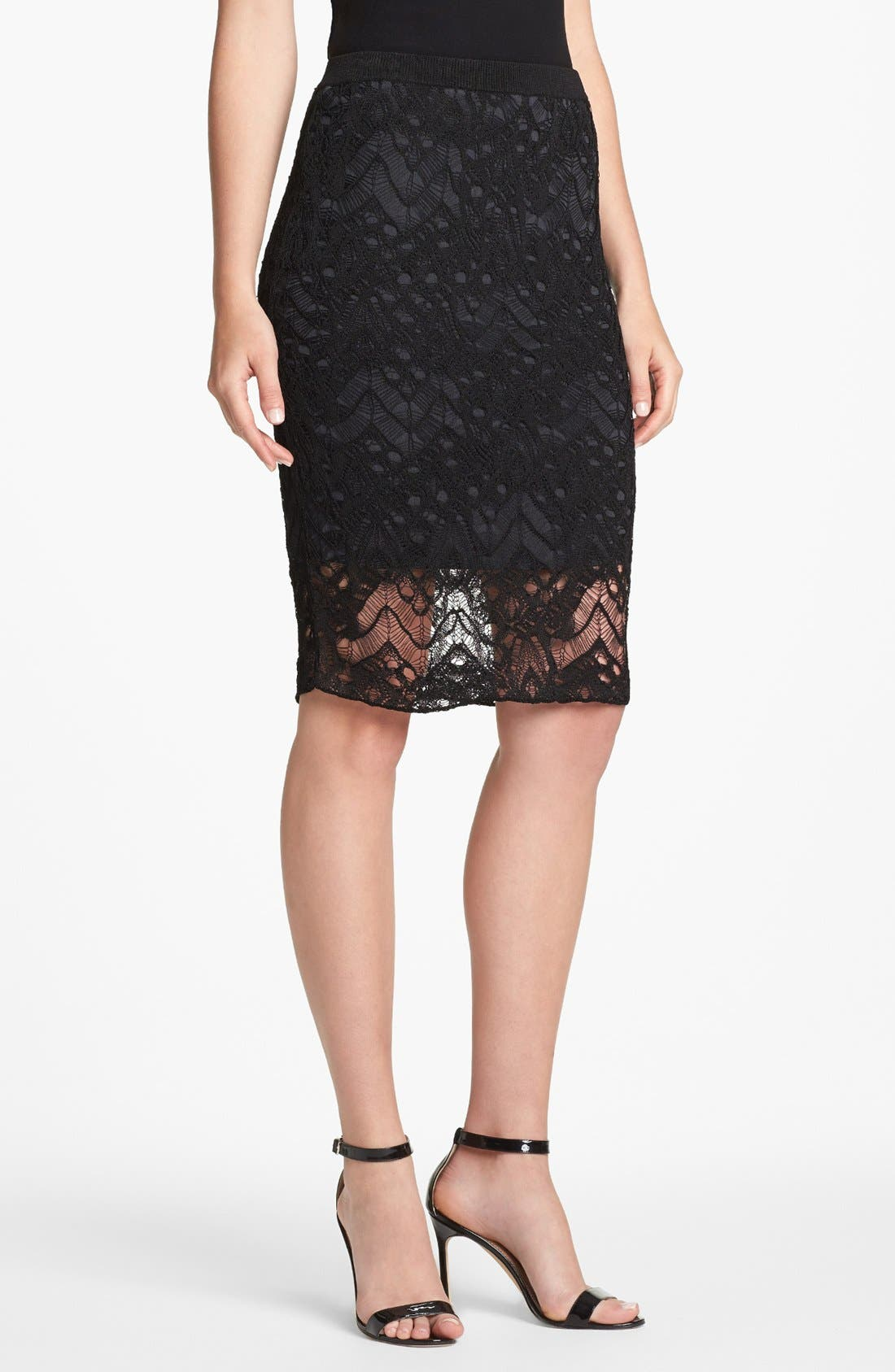 Main Image - Eileen Fisher Lace Skirt (Petite)