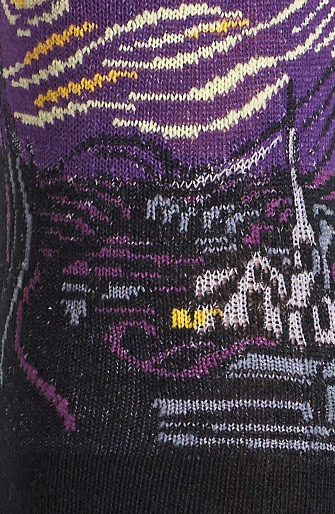 Alternate Image 2  - Hot Sox Starry Night Pattern Crew Socks