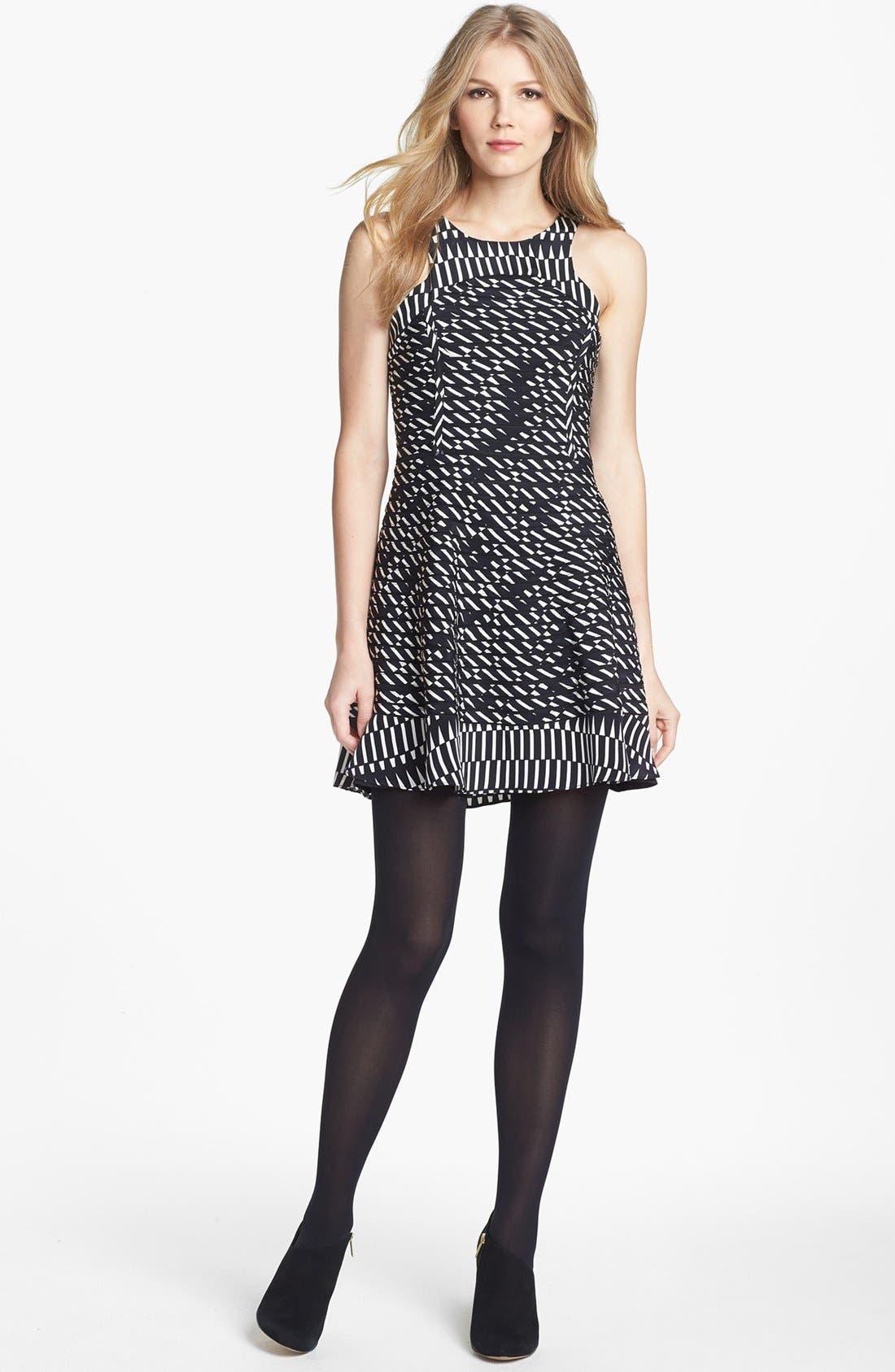 Main Image - Parker 'Ebony' Silk Fit & Flare Dress