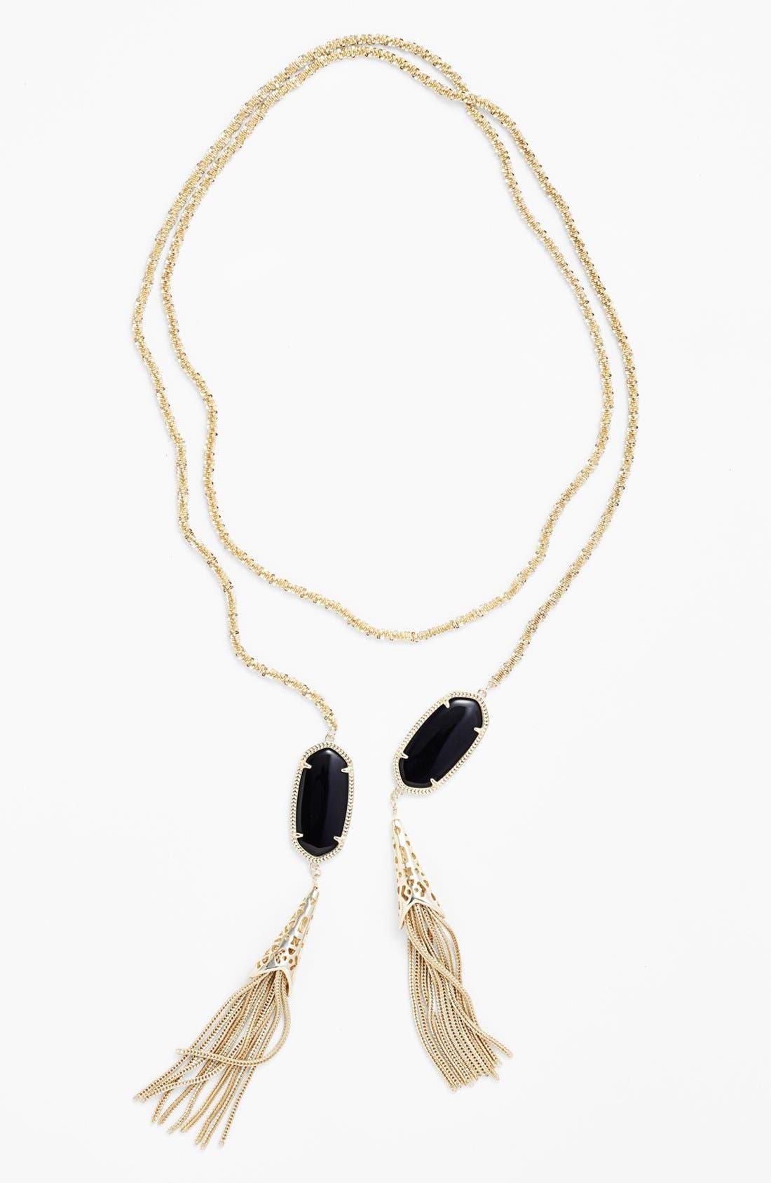 Alternate Image 2  - Kendra Scott 'Megan' Oval Stone & Fringe Chain Necklace