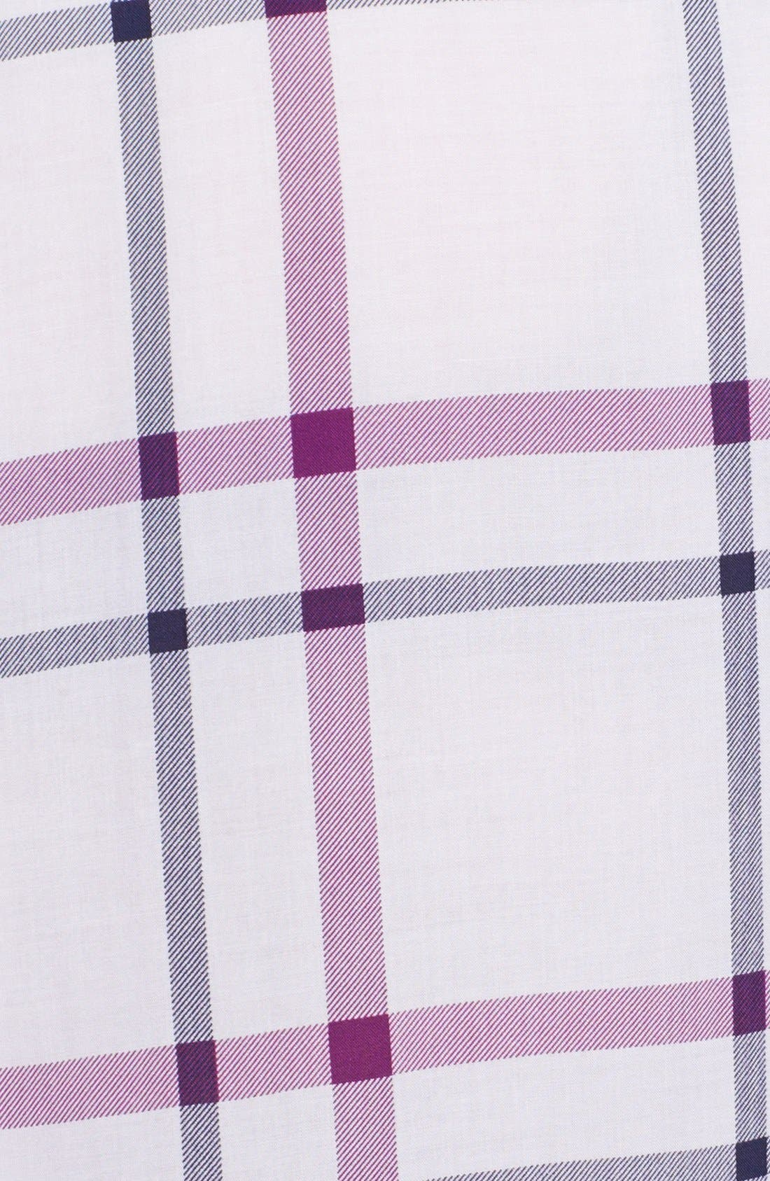 Alternate Image 3  - Foxcroft Windowpane Plaid Shirt (Plus Size)