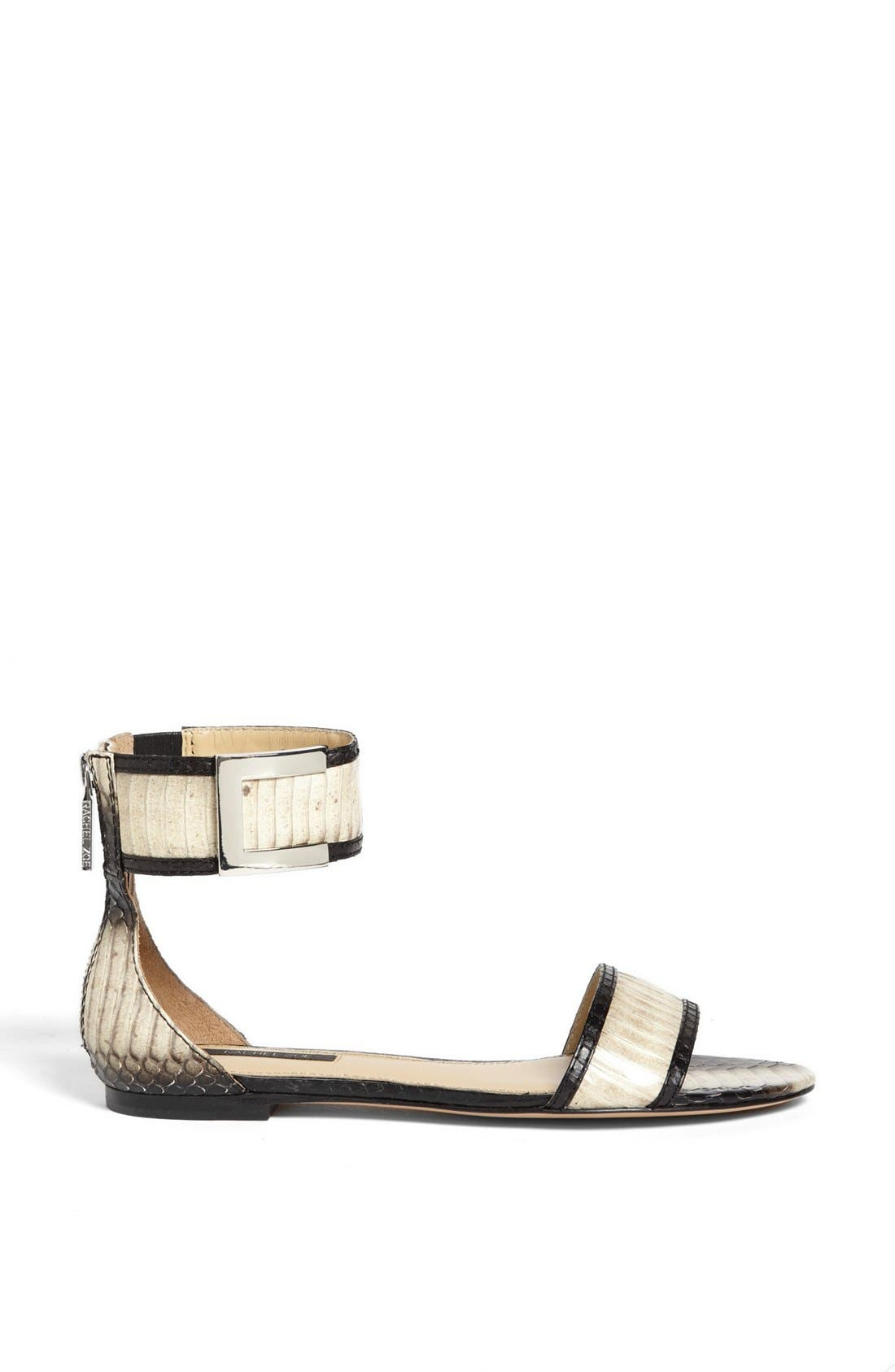 Alternate Image 4  - Rachel Zoe 'Gracie' Genuine Snakeskin Sandal