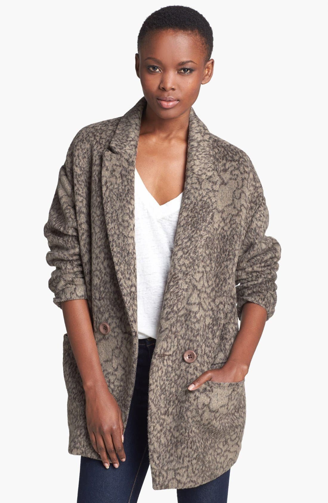 Main Image - ASTR Print Oversized Coat