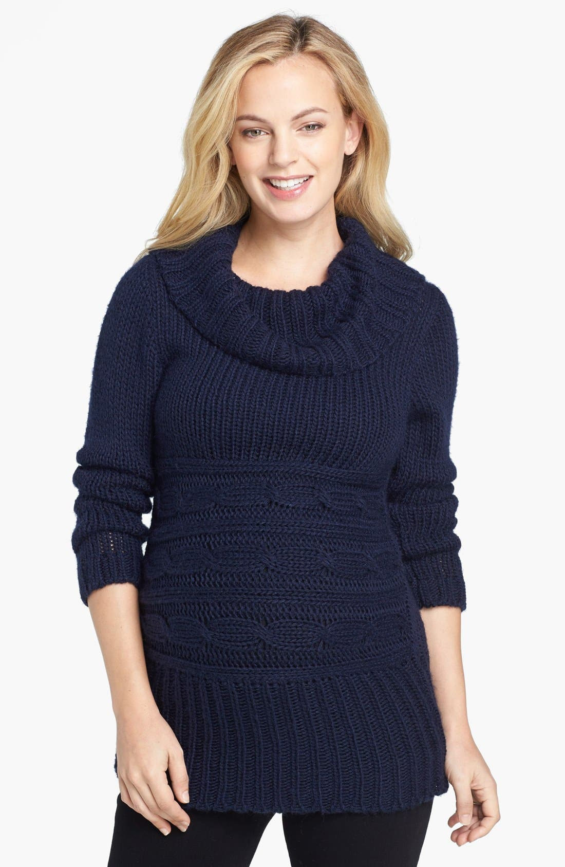 Alternate Image 1 Selected - Olian Cowl Neck Maternity Sweater