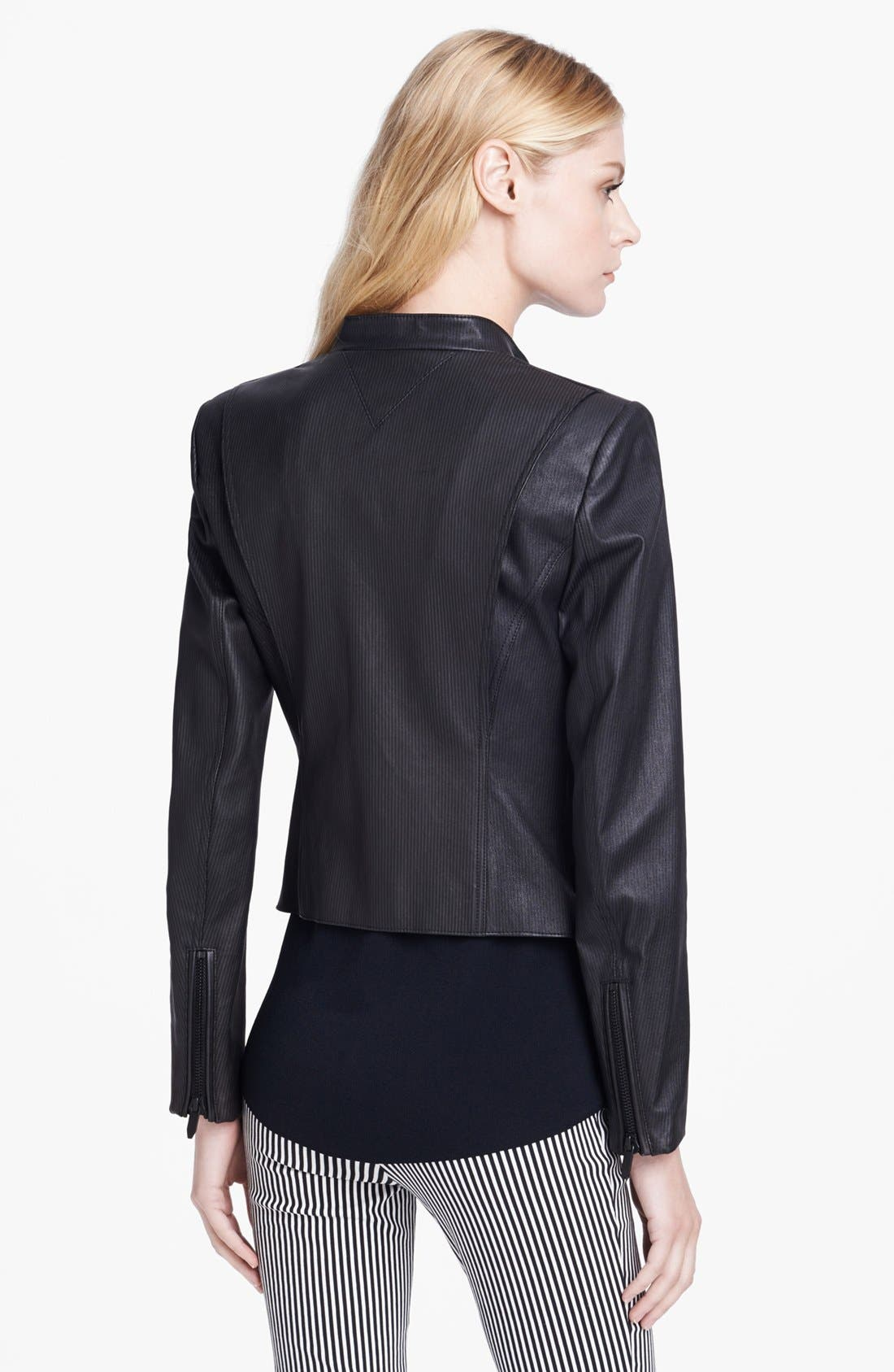 Alternate Image 2  - Theyskens' Theory 'Jylan Netch' Stripe Leather Jacket