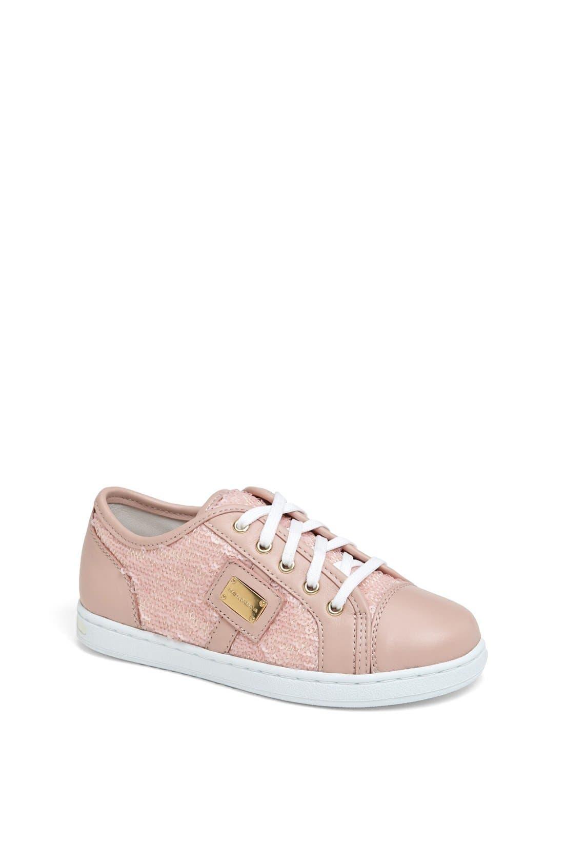 Alternate Image 1 Selected - Dolce&Gabbana Sequin Sneaker (Toddler & Little Kid)