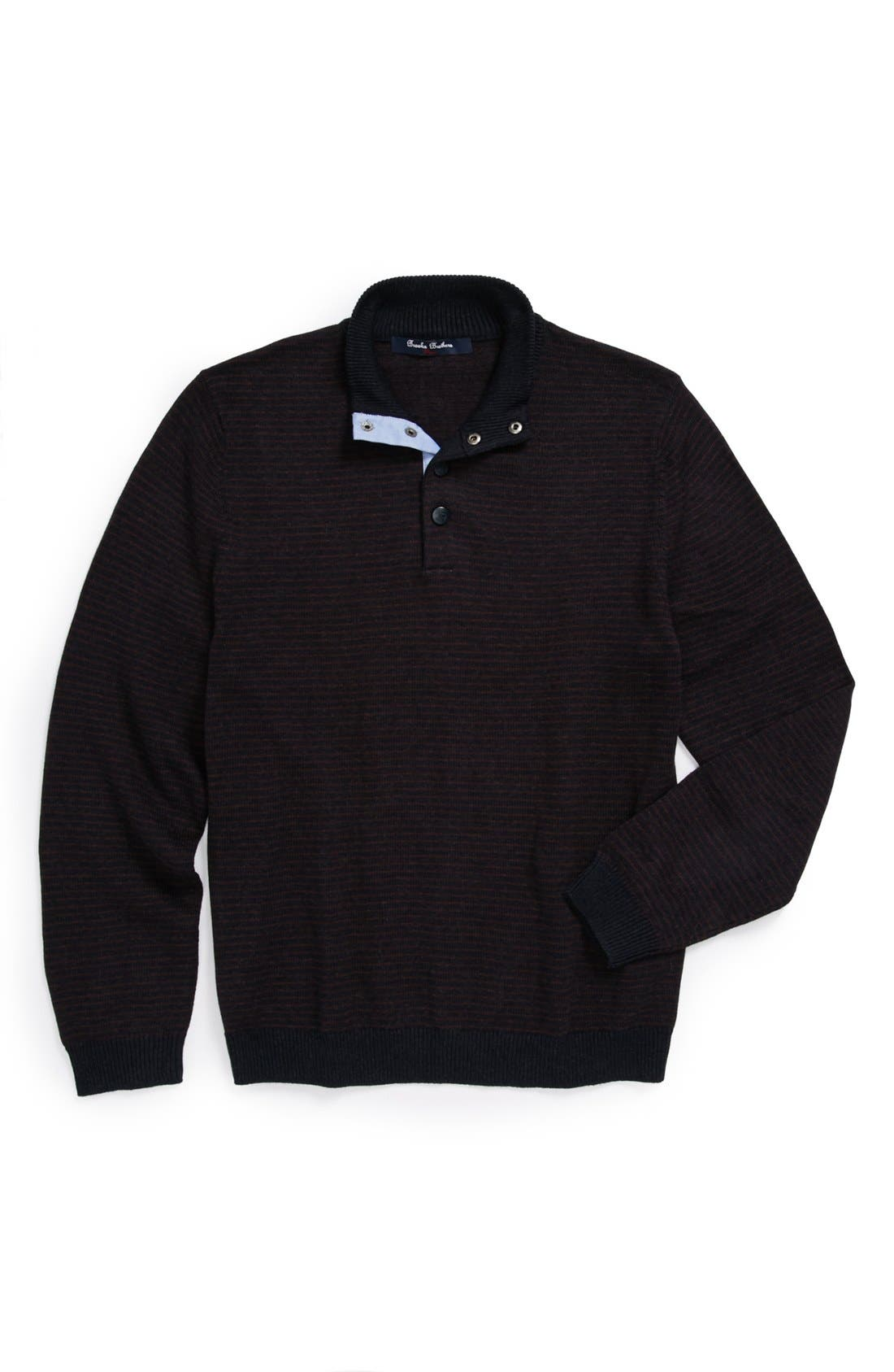Alternate Image 1 Selected - Brooks Brothers Mock Neck Sweater (Big Boys)