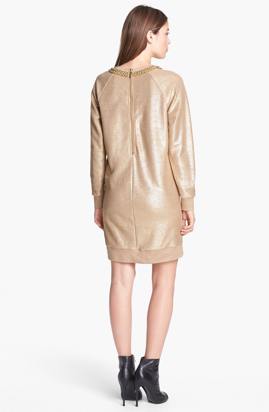 Alternate Image 2  - MICHAEL Michael Kors Foiled Cotton Terry Dress