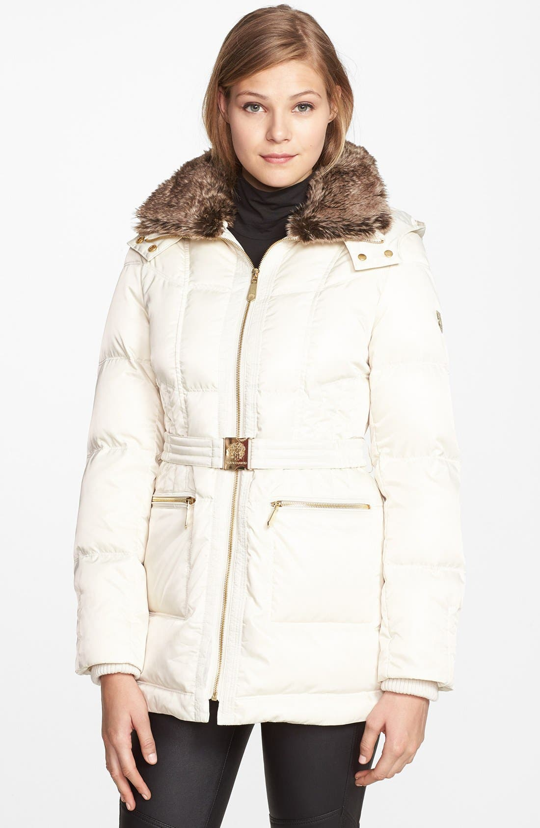 Alternate Image 1 Selected - Vince Camuto Faux Fur Collar Down & Feather Parka