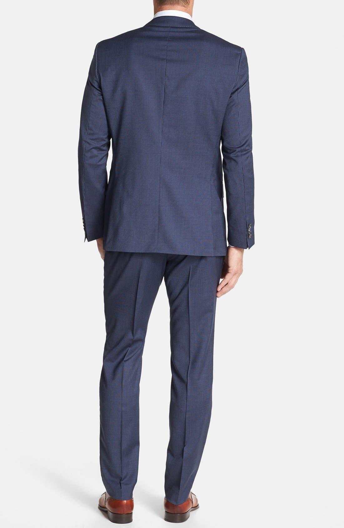 Alternate Image 2  - BOSS HUGO BOSS 'Hutson/Gander' Trim Fit Stripe Suit