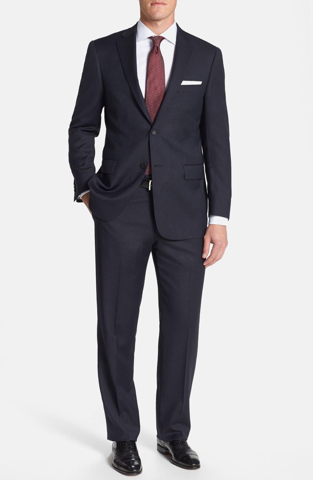 Main Image - Hart Schaffner Marx 'New York' Classic Fit Stripe Suit