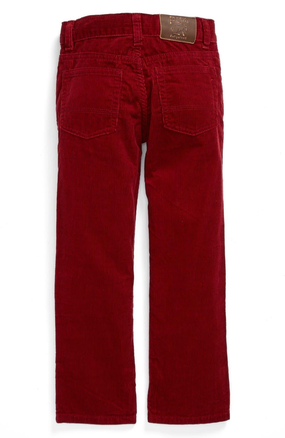 Alternate Image 2  - Peek Straight Leg Corduroy Pants (Baby Boys)