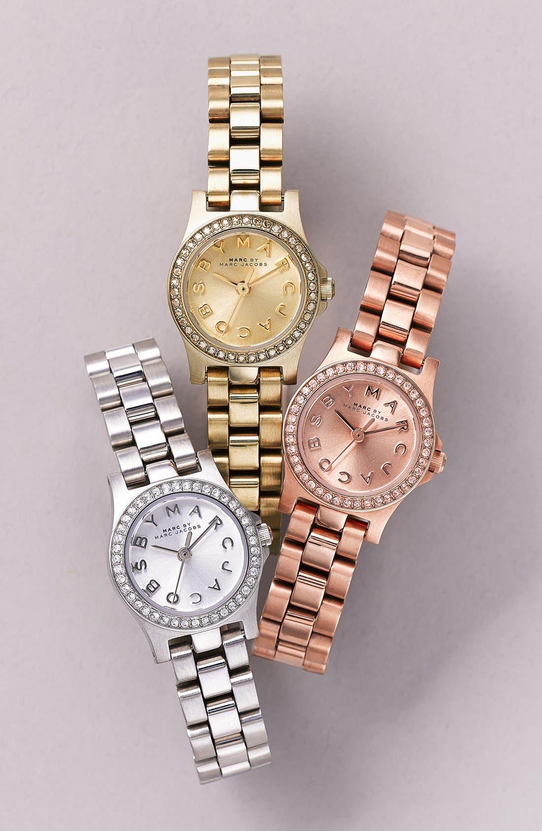 Alternate Image 4  - MARC JACOBS 'Henry Dinky' Crystal Bracelet Watch, 21mm