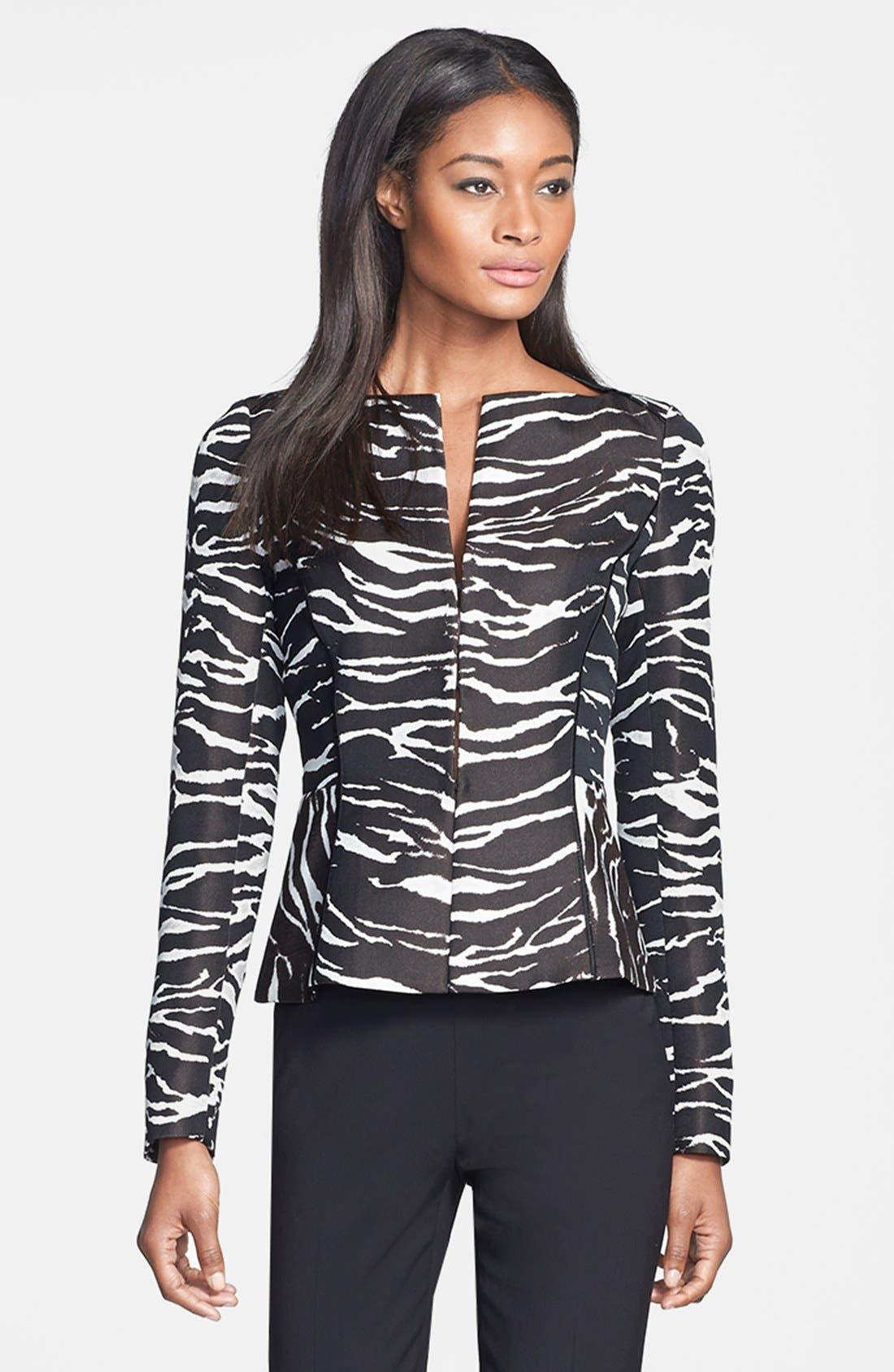 Alternate Image 1 Selected - Lafayette 148 New York 'Graphic Zebra' Jacket