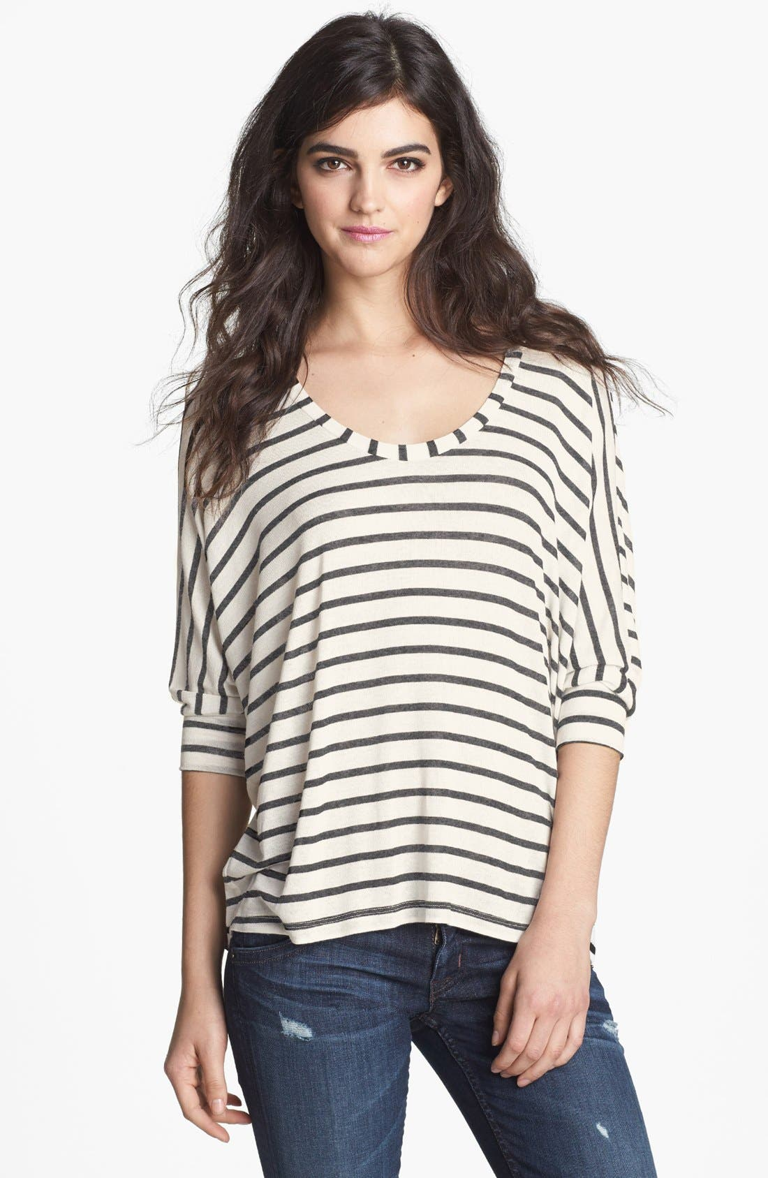 Main Image - Splendid Stripe Scoop Neck Top