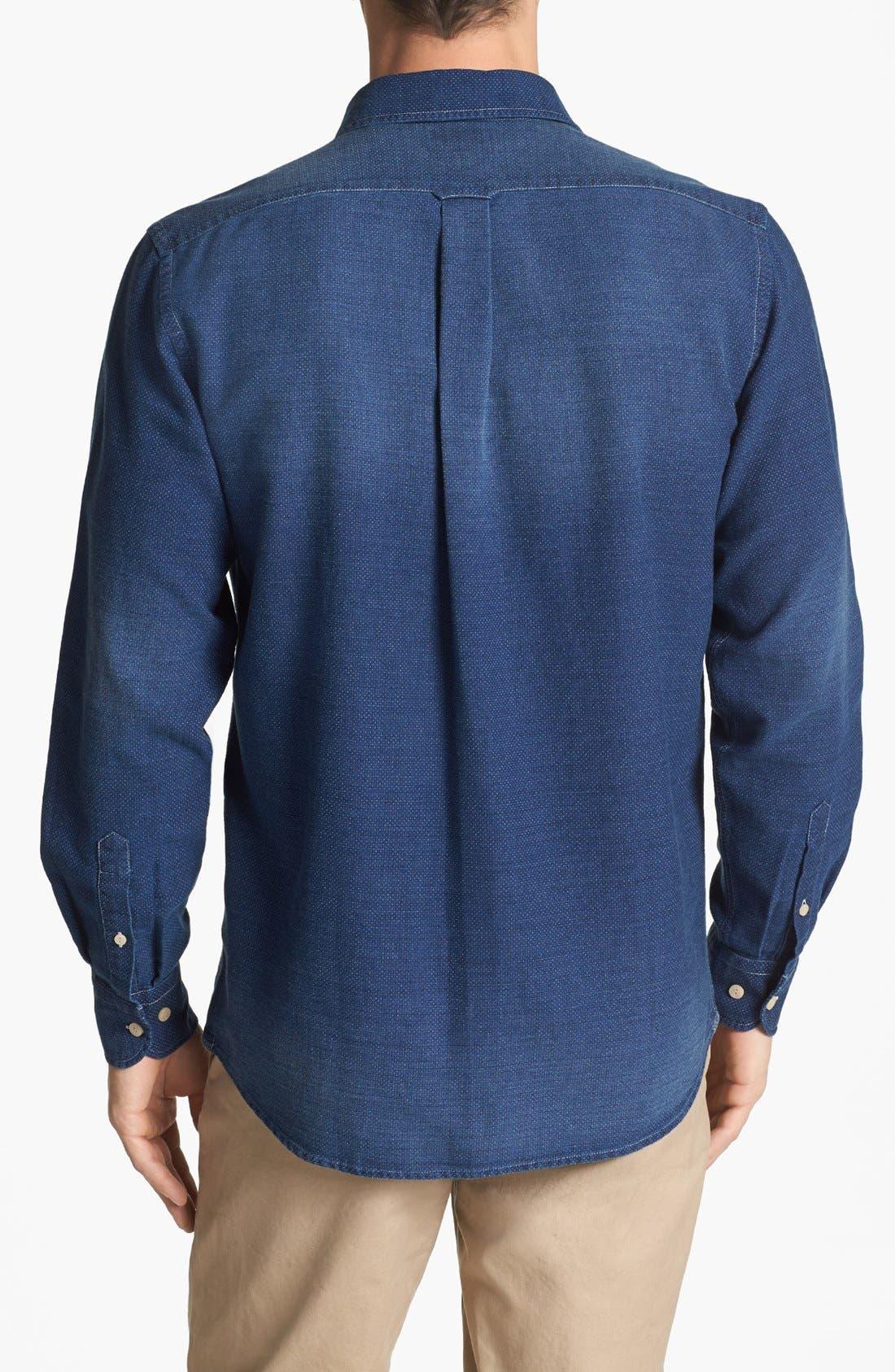 Alternate Image 2  - Façonnable Club Fit Dobby Sport Shirt