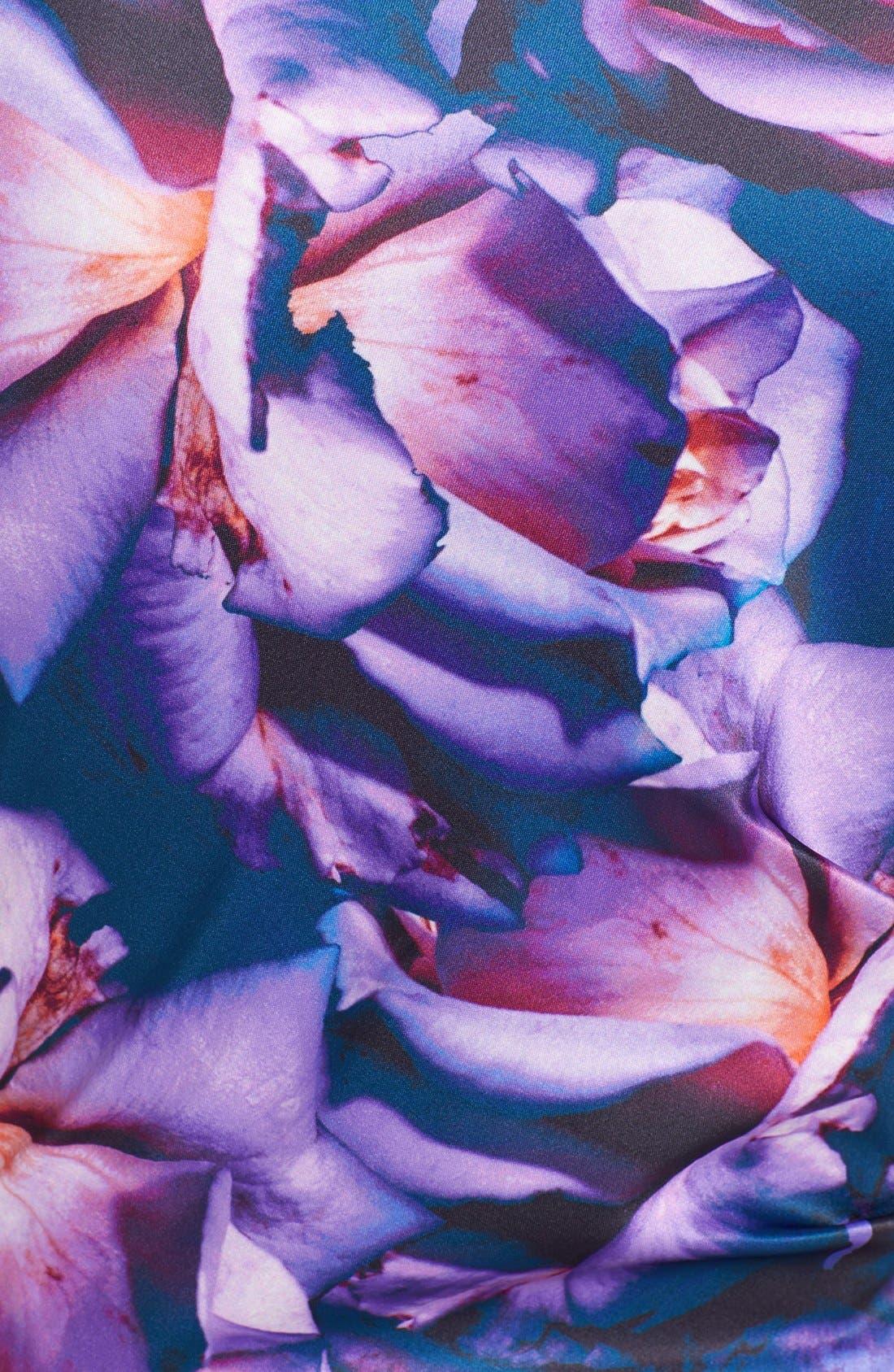 Alternate Image 3  - Ivy & Blu Print Satin Sheath Dress