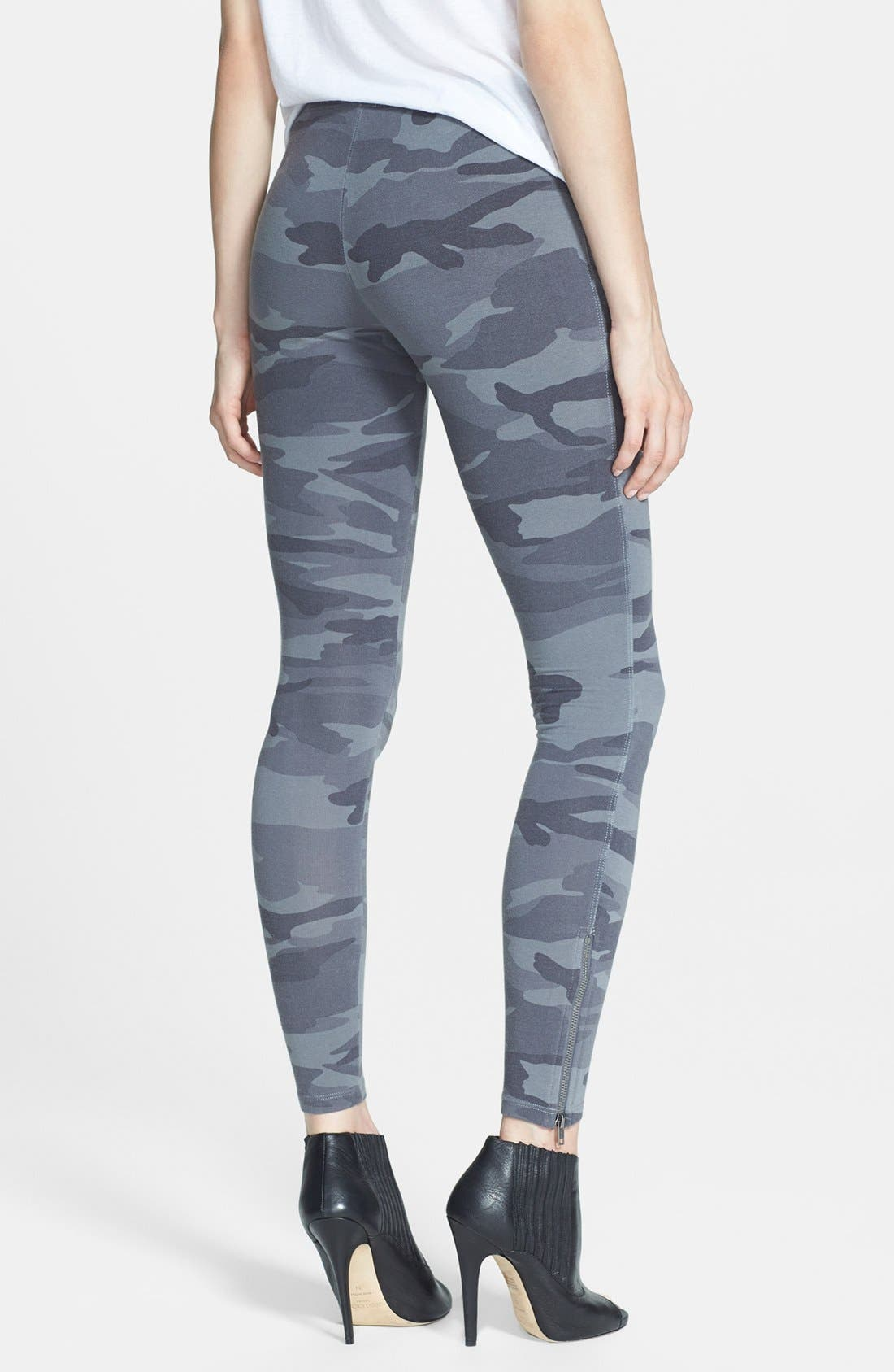 Alternate Image 2  - Splendid Camouflage Print Leggings