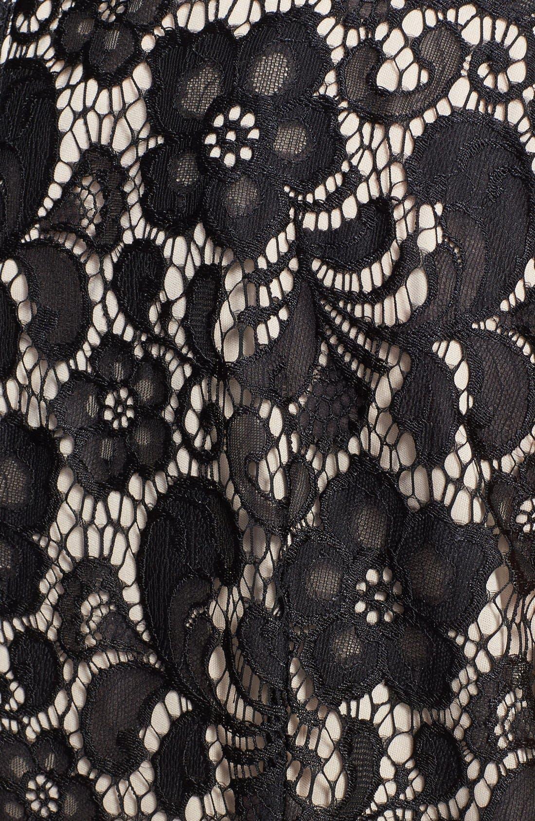 Alternate Image 3  - Ivy & Blu Lace Shift Dress (Plus Size)