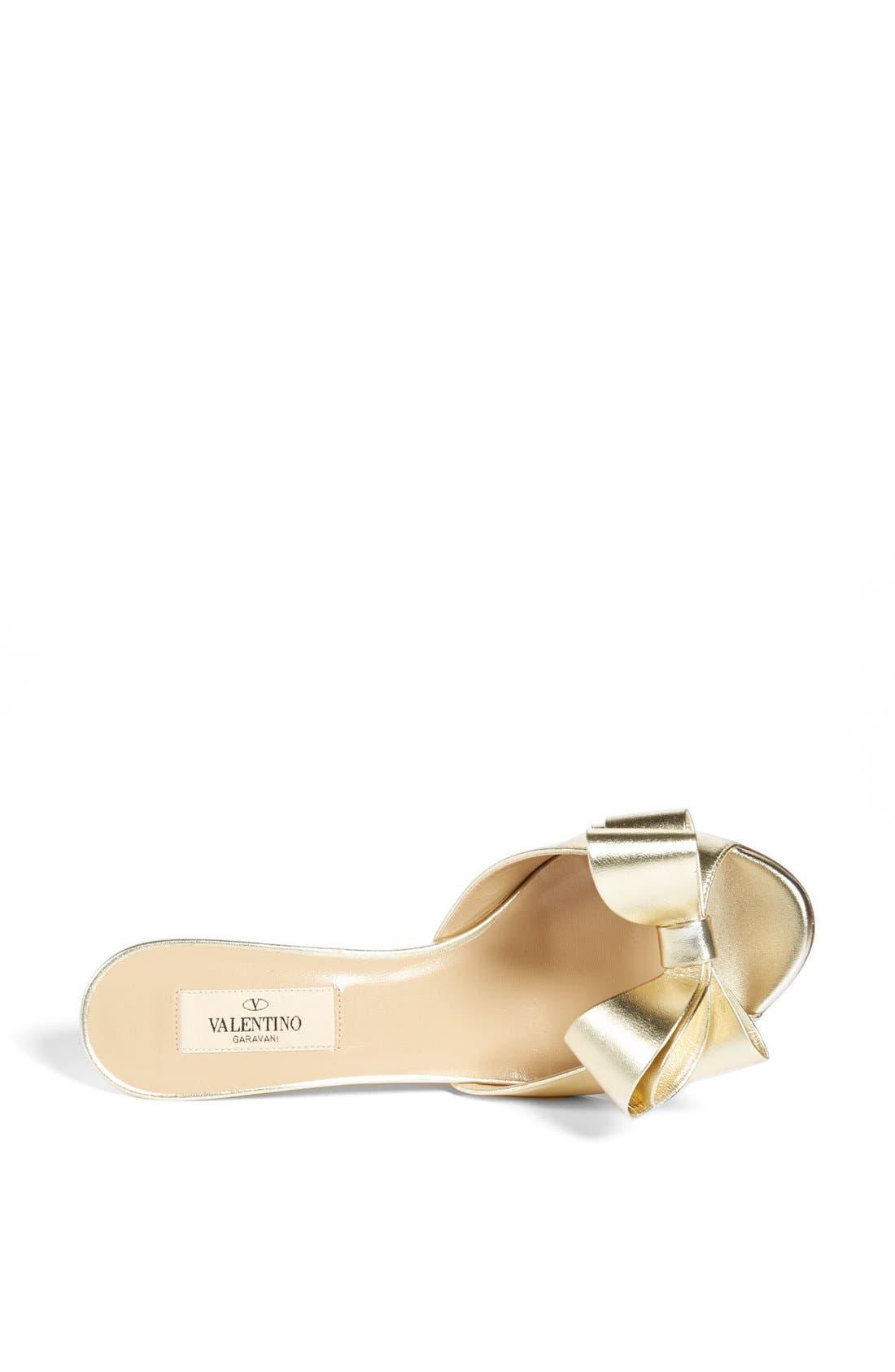 Alternate Image 3  - Valentino Bow Wedge Sandal