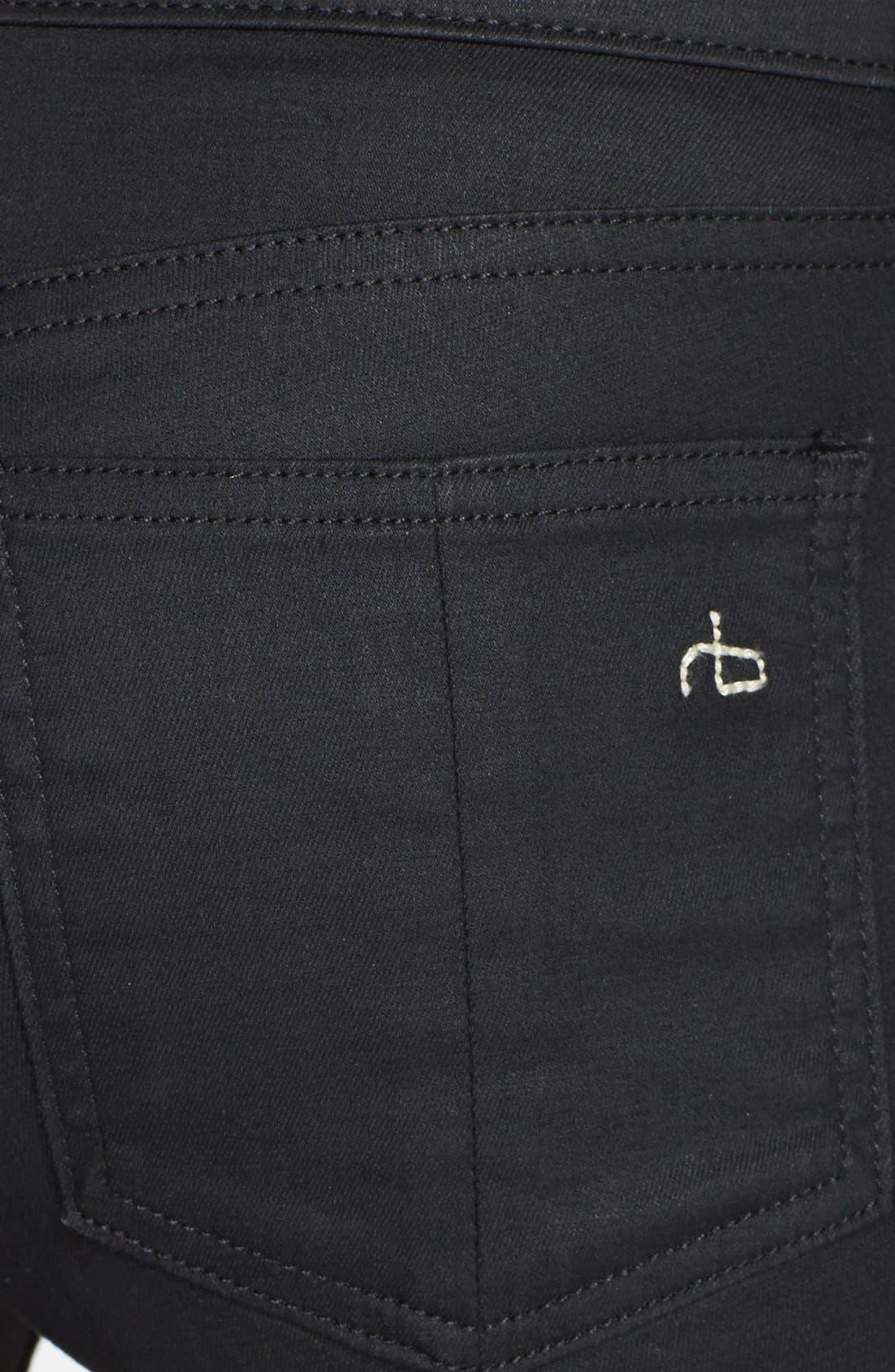 Alternate Image 3  - rag & bone/JEAN Coated Zip Cuff Crop Jeans (Cotswald)