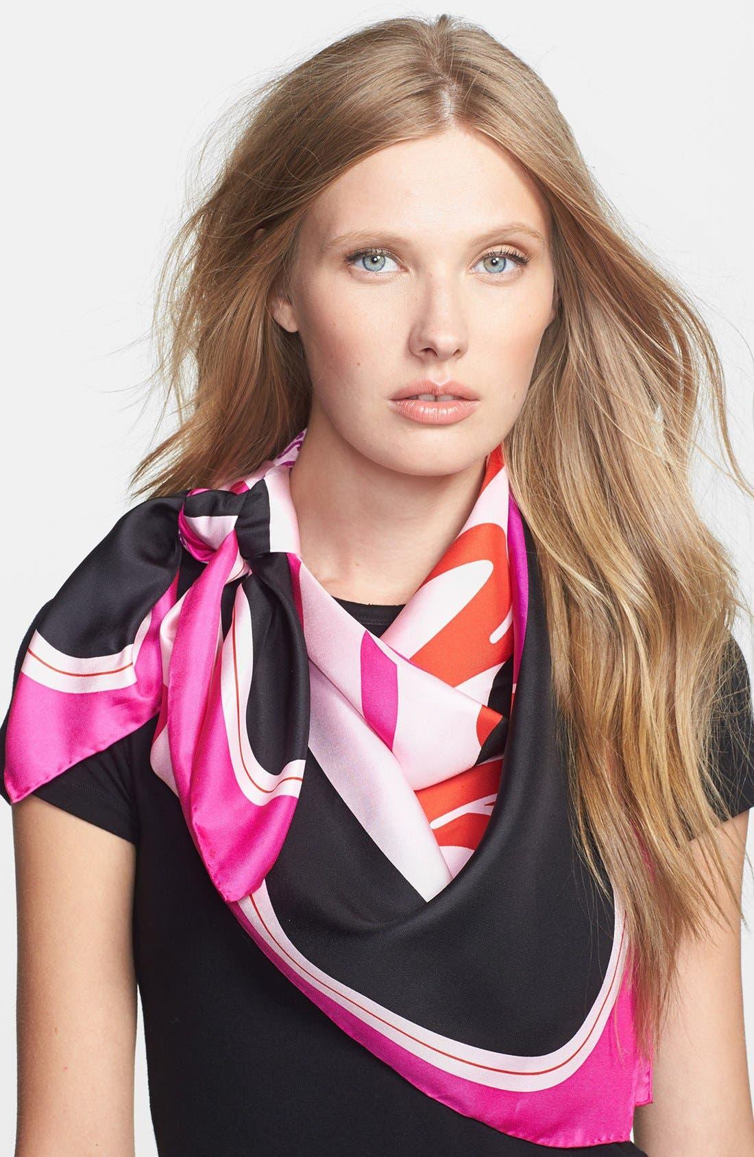 Main Image - kate spade new york 'disco record' silk scarf