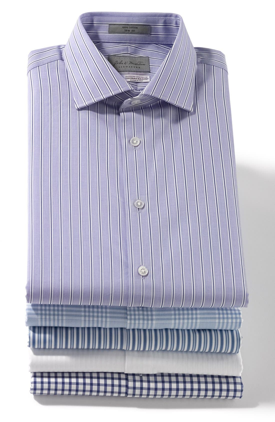 Alternate Image 3  - John W. Nordstrom® Signature Trim Fit Stripe Dress Shirt