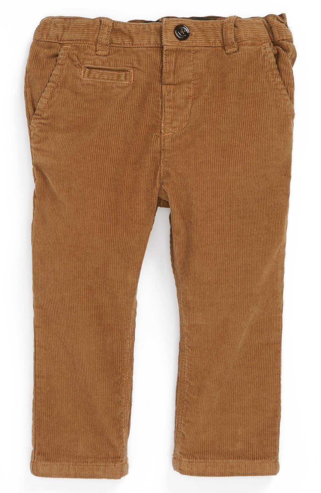 Main Image - Burberry Corduroy Pants (Baby Boys)