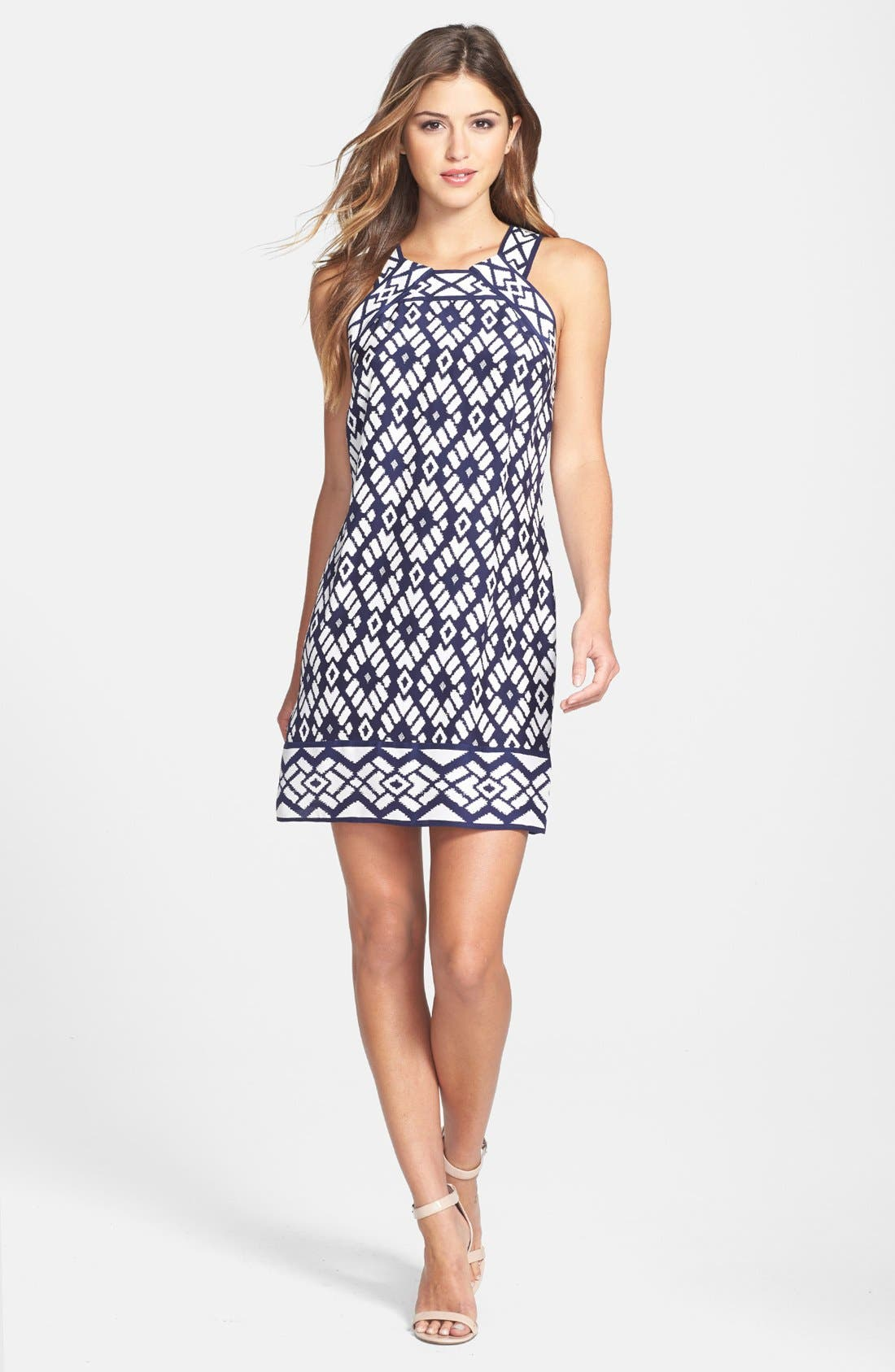 Alternate Image 1 Selected - ALICE & TRIXIE 'Michelle' Print Silk Shift Dress